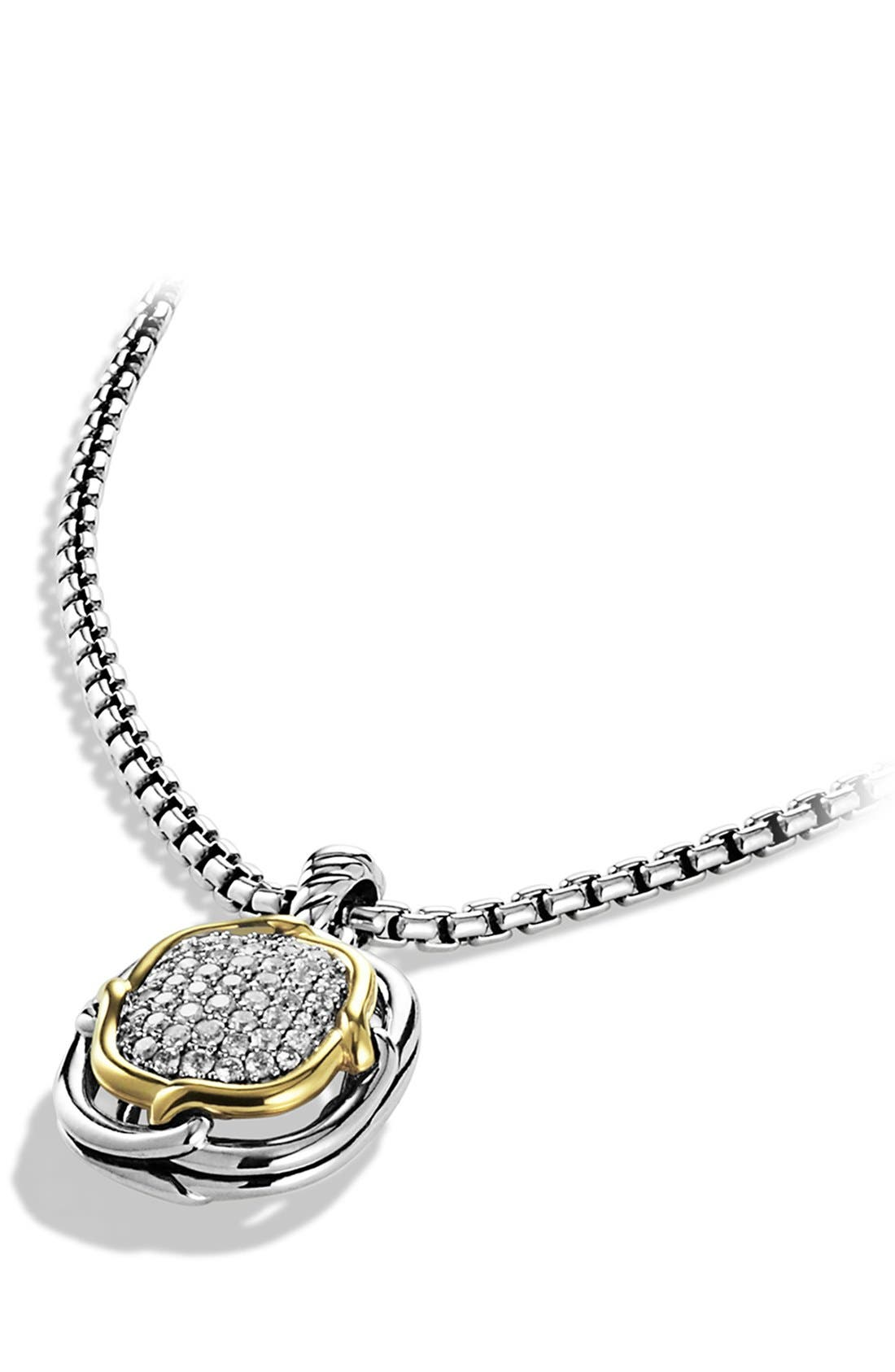 Alternate Image 2  - David Yurman 'Labyrinth' Pendant with Diamonds and Gold