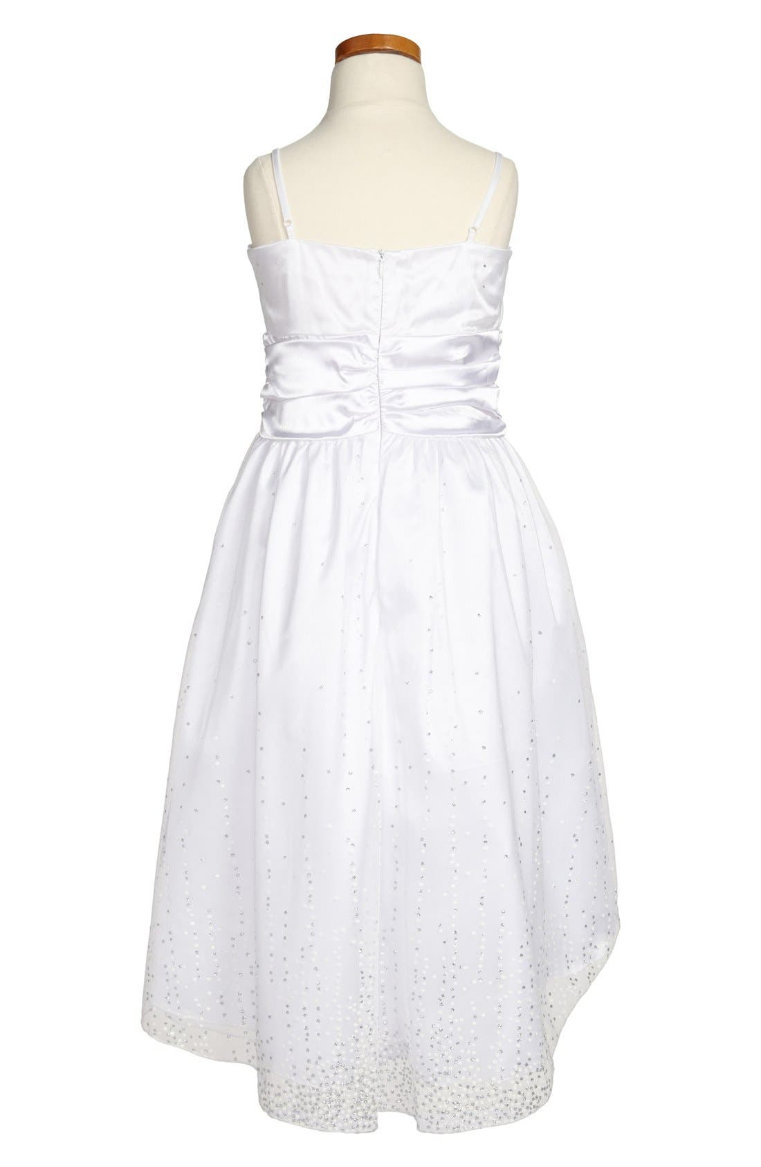 Alternate Image 2  - Un Deux Trois 'Sequin Spray' High/Low Dress (Big Girls)