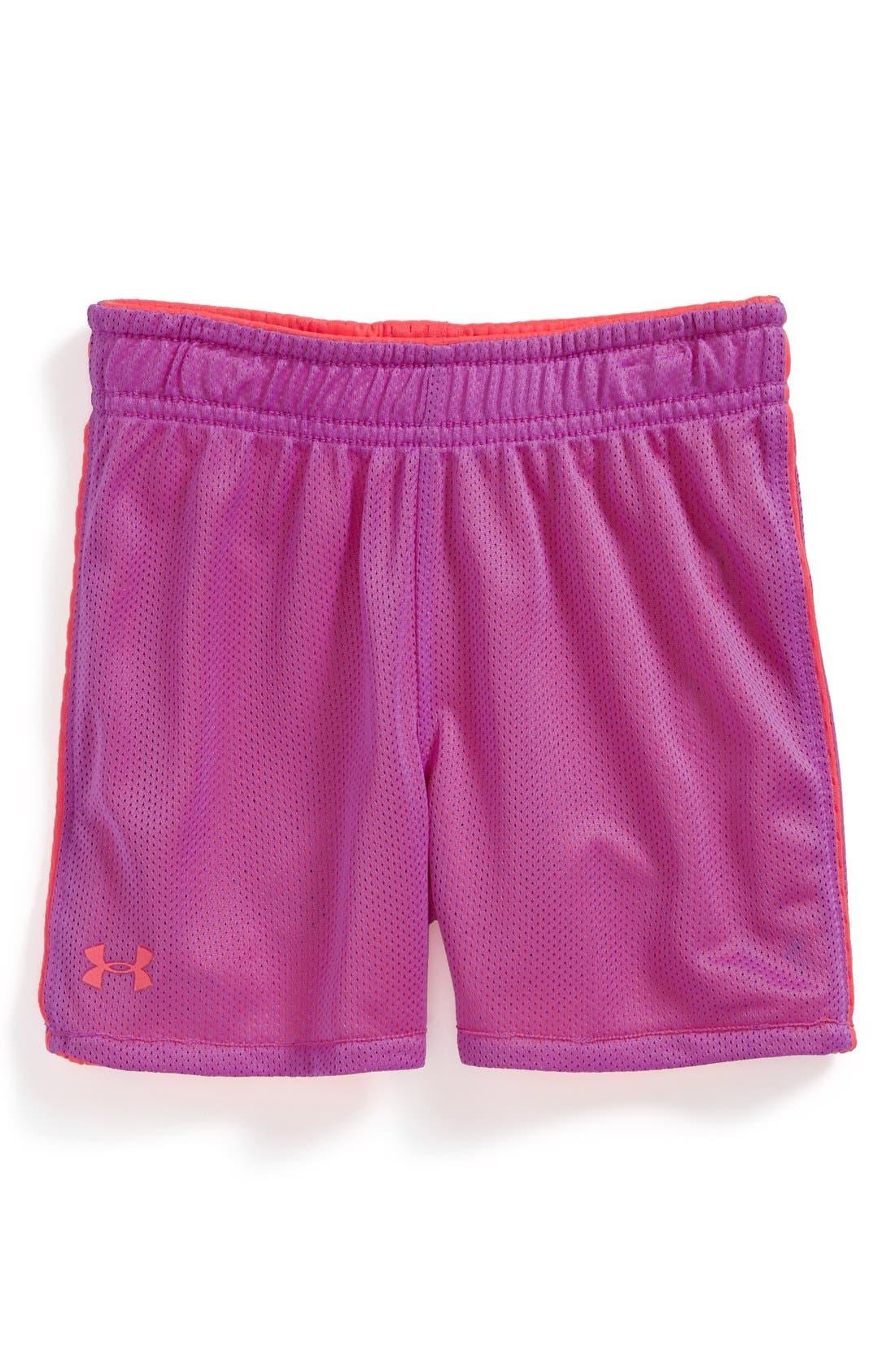Alternate Image 2  - Under Armour Reversible Mesh Shorts (Toddler Girls)