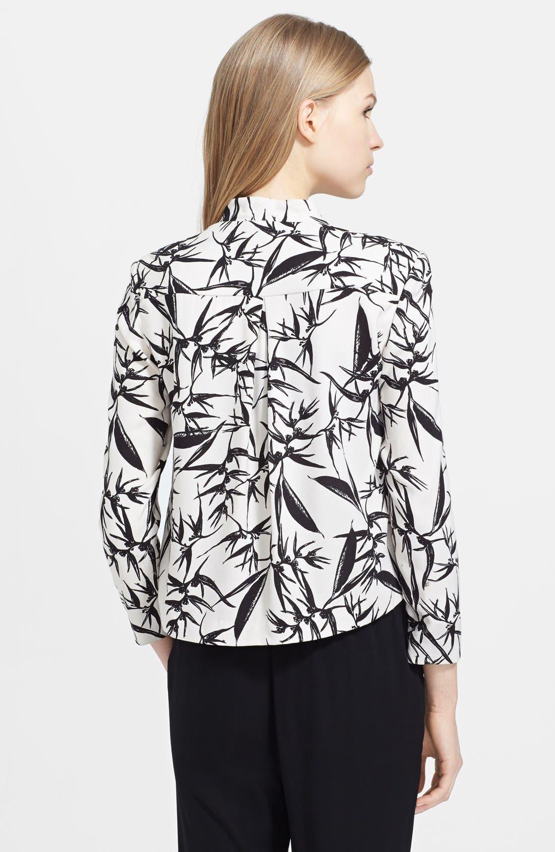 Alternate Image 2  - Alice + Olivia 'Vanna' Print Drape Jacket
