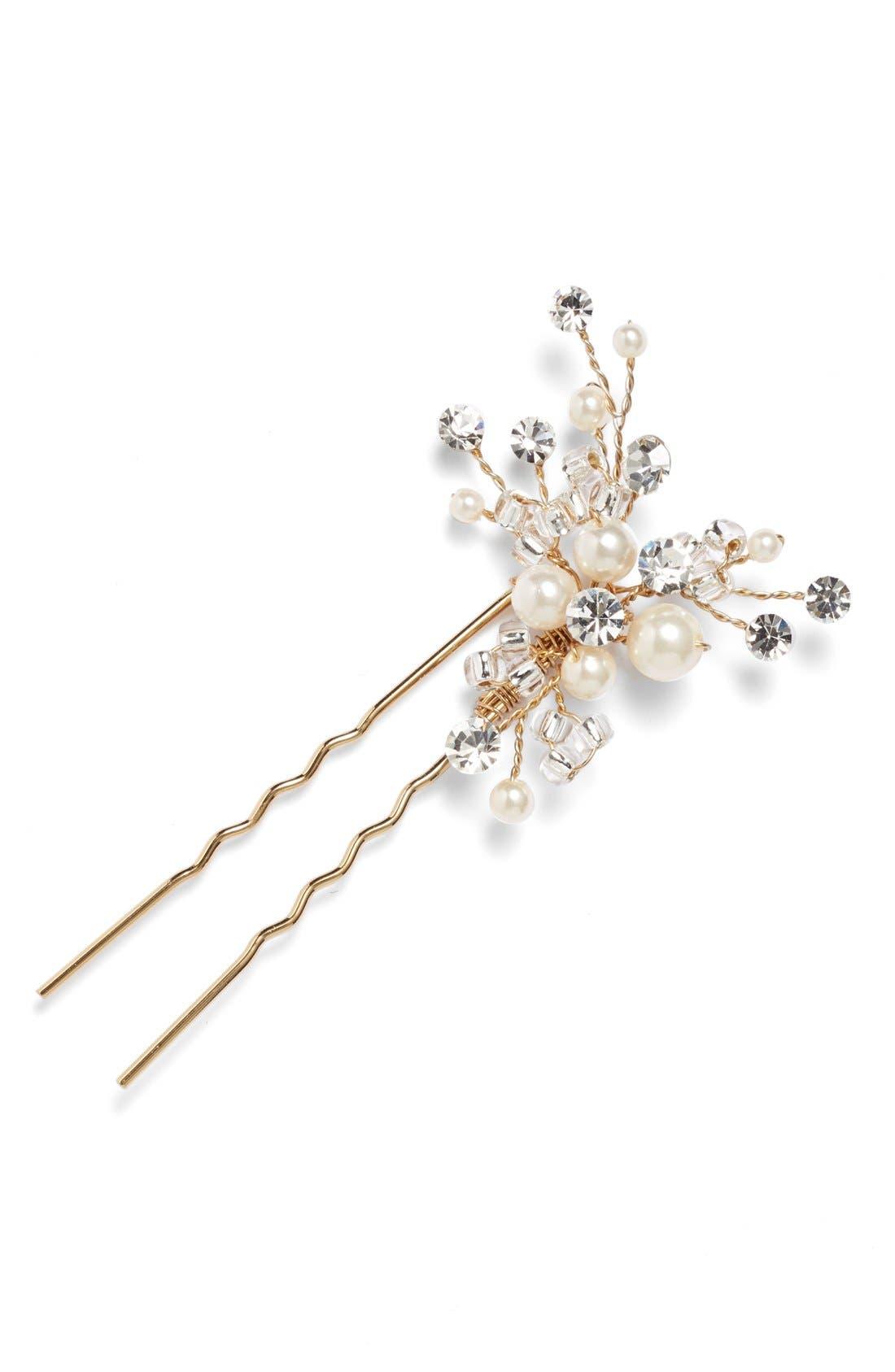 Alternate Image 1 Selected - Wedding Belles New York 'Poppy' Hairpin