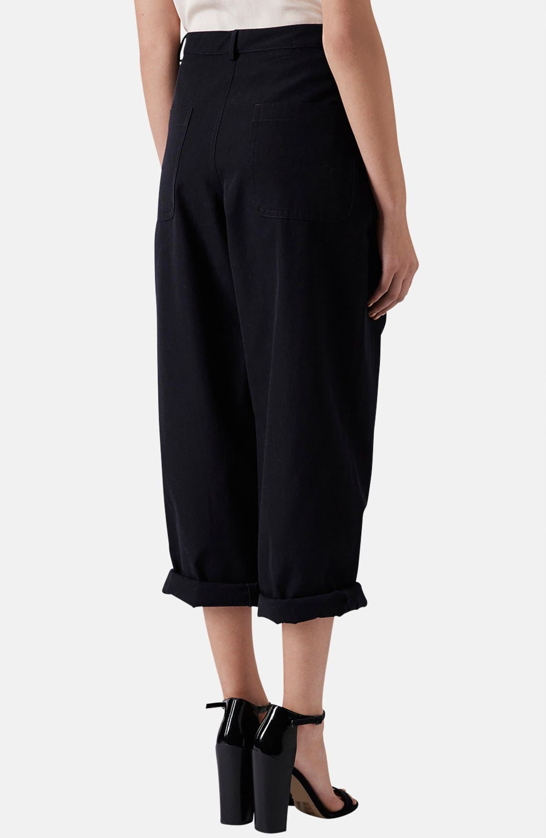 Alternate Image 2  - Topshop Boutique Wide Leg Wool Trousers
