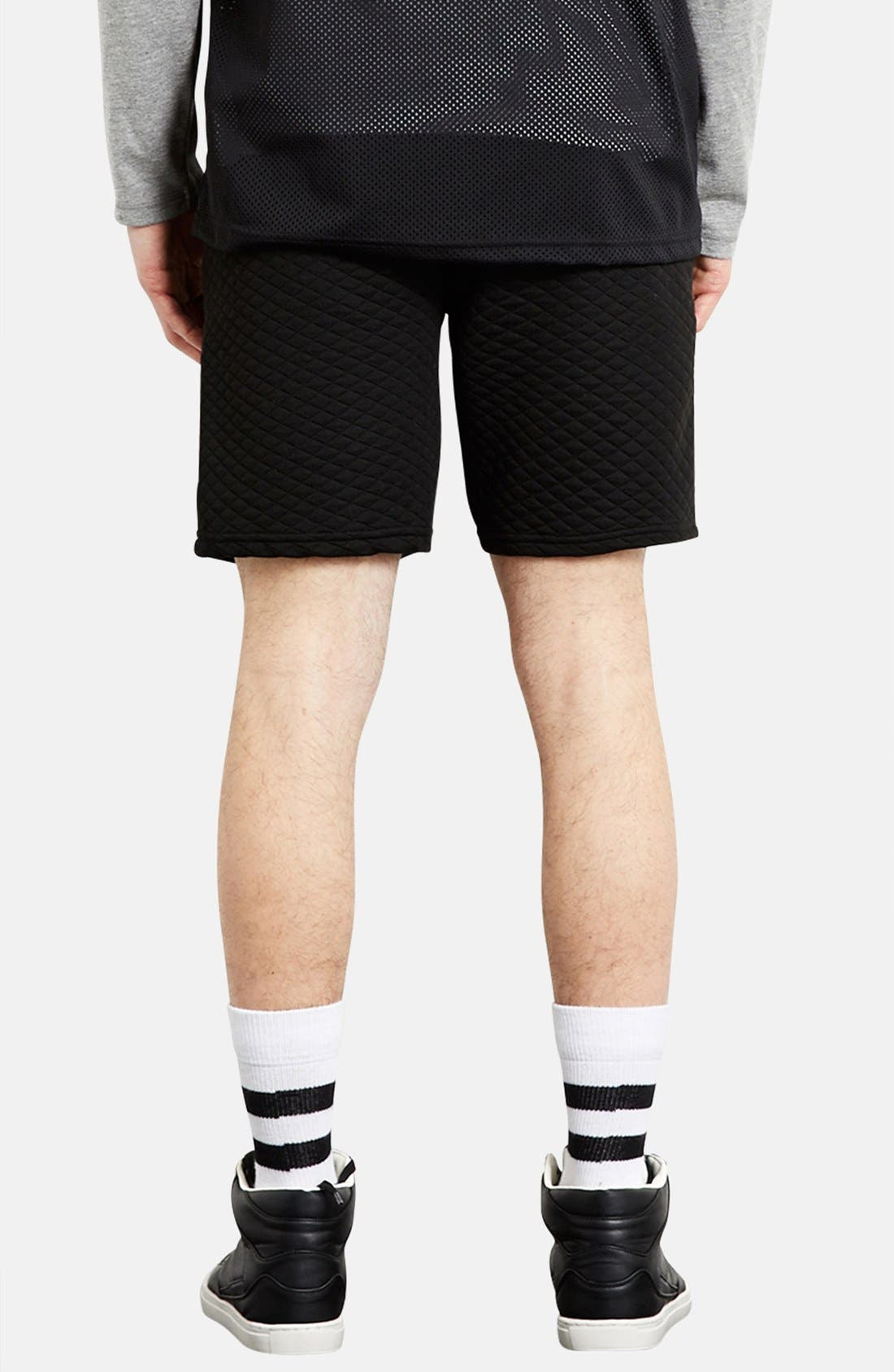 Alternate Image 2  - Topman Trim Fit Quilted Shorts