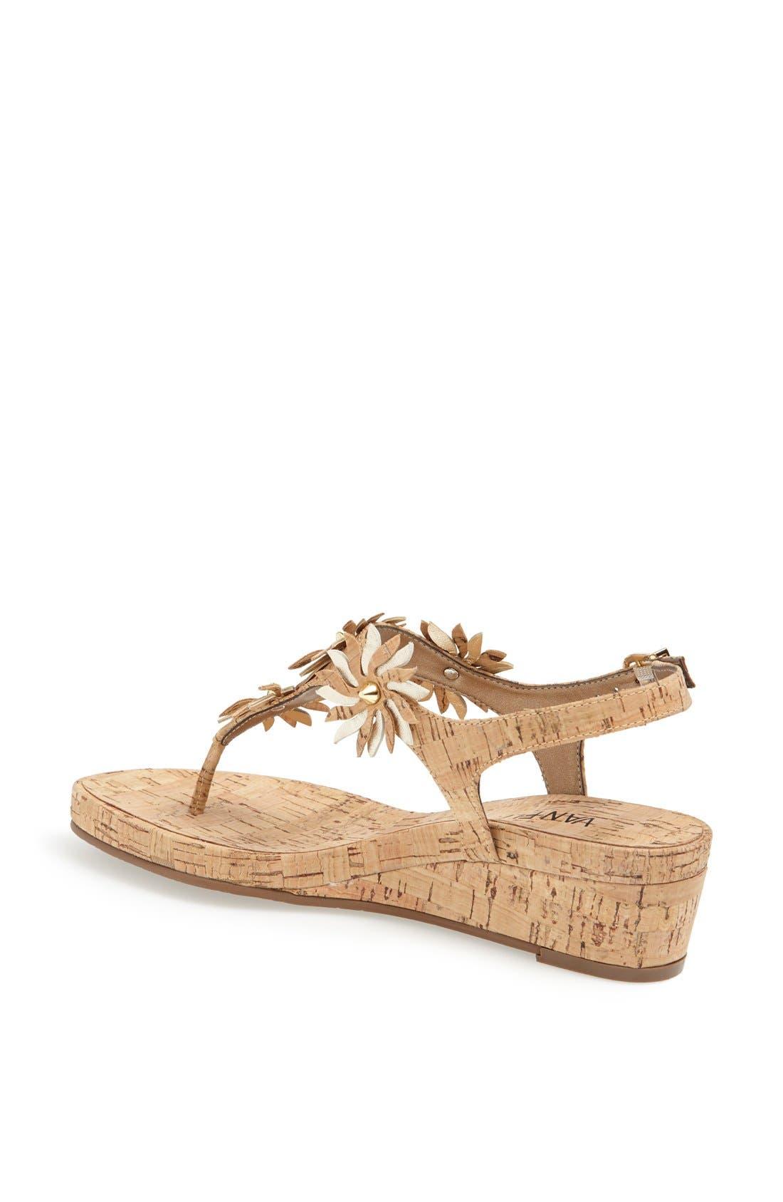 Alternate Image 2  - VANELi 'Kenan' Wedge Thong Sandal