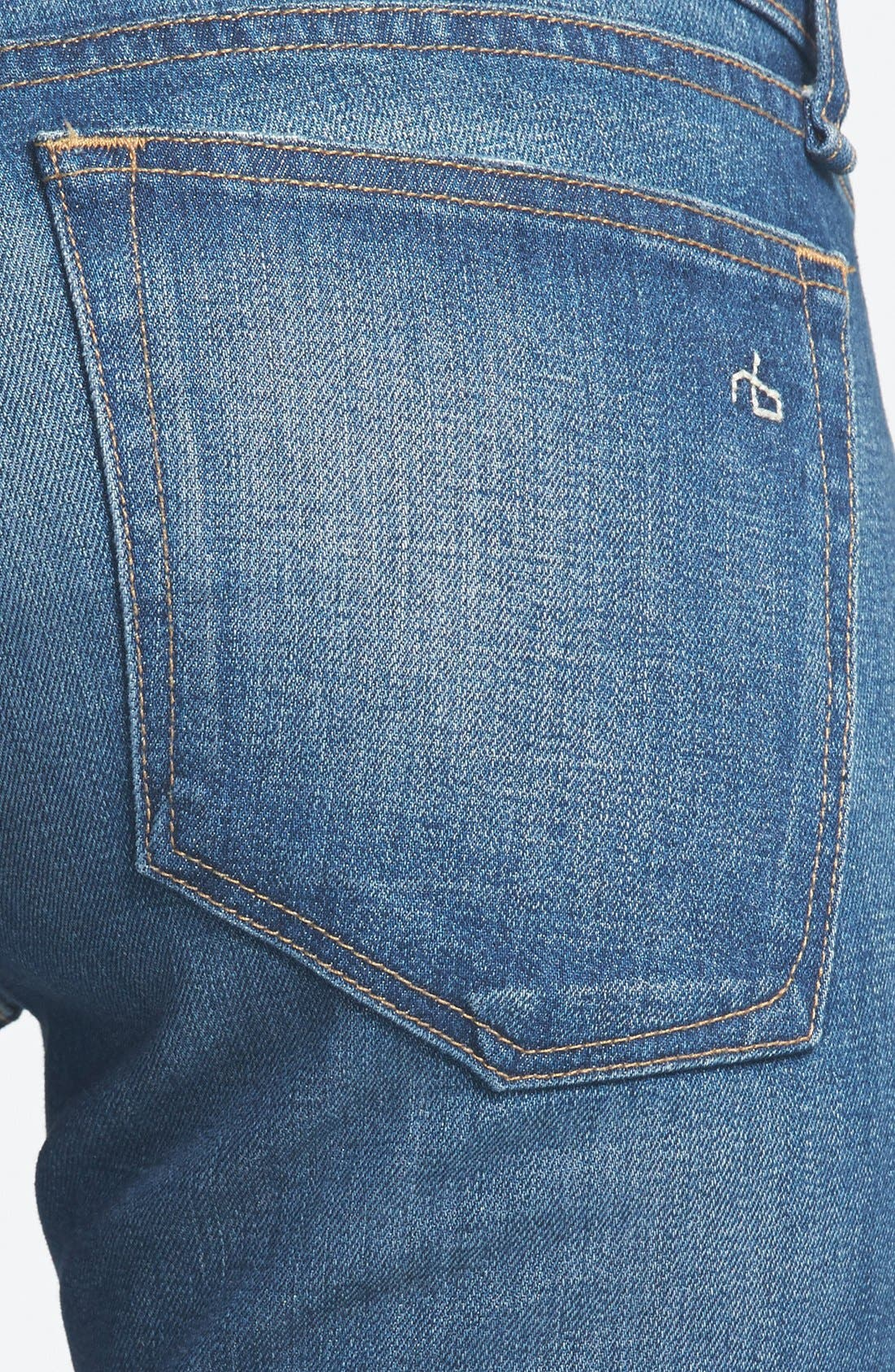 Alternate Image 3  - rag & bone/JEAN 'The Dre' Slim Fit Boyfriend Jeans (Bradford)
