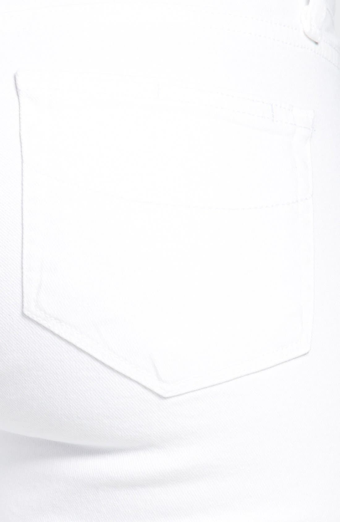 Alternate Image 3  - PAIGE 'Skyline' Skinny Jeans (Optic White)