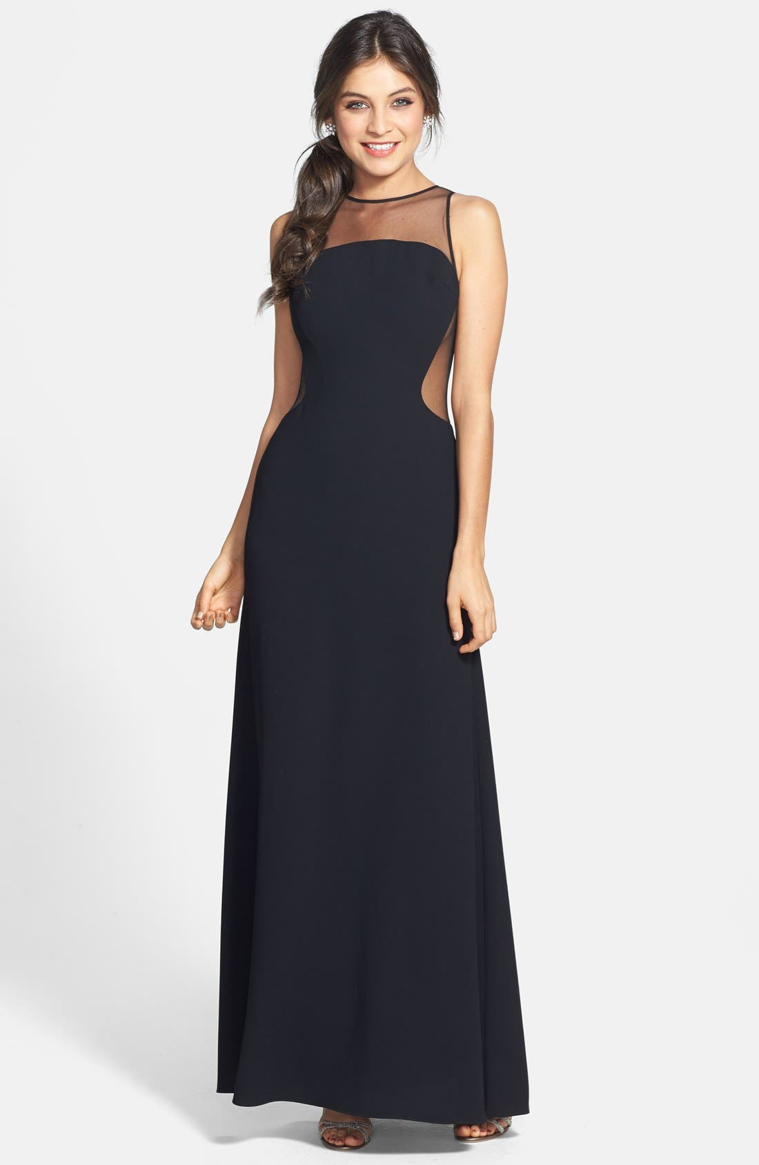 Alternate Image 1 Selected - Jill Jill Stuart Illusion Crepe Gown