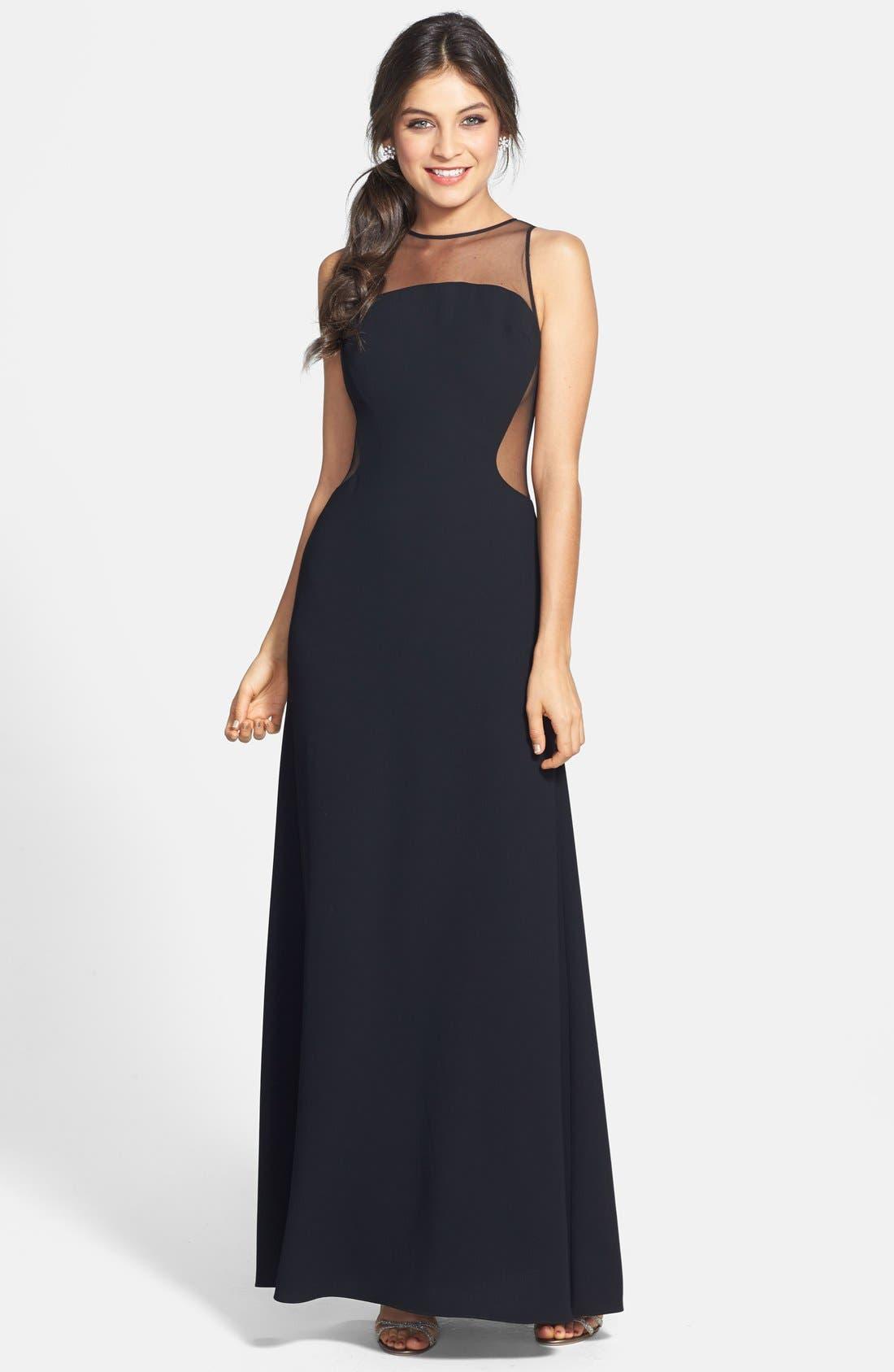 Main Image - Jill Jill Stuart Illusion Crepe Gown