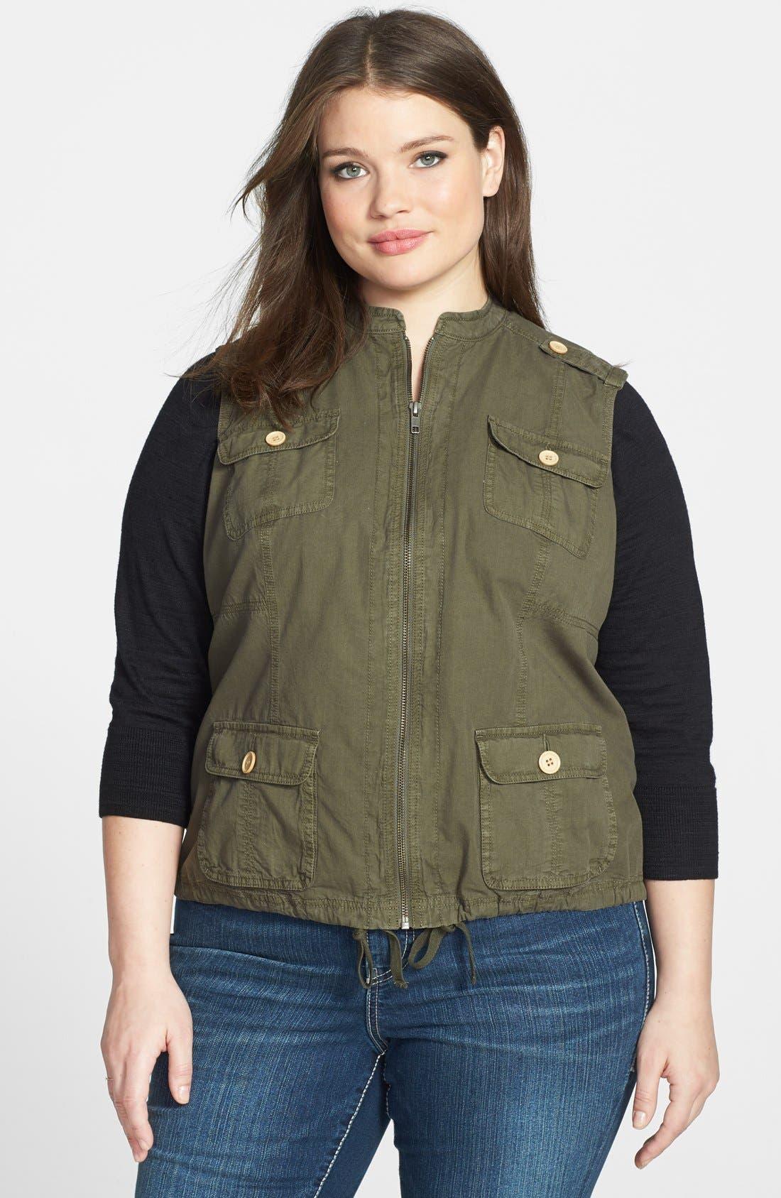 Main Image - Halogen® Utility Vest (Plus Size)