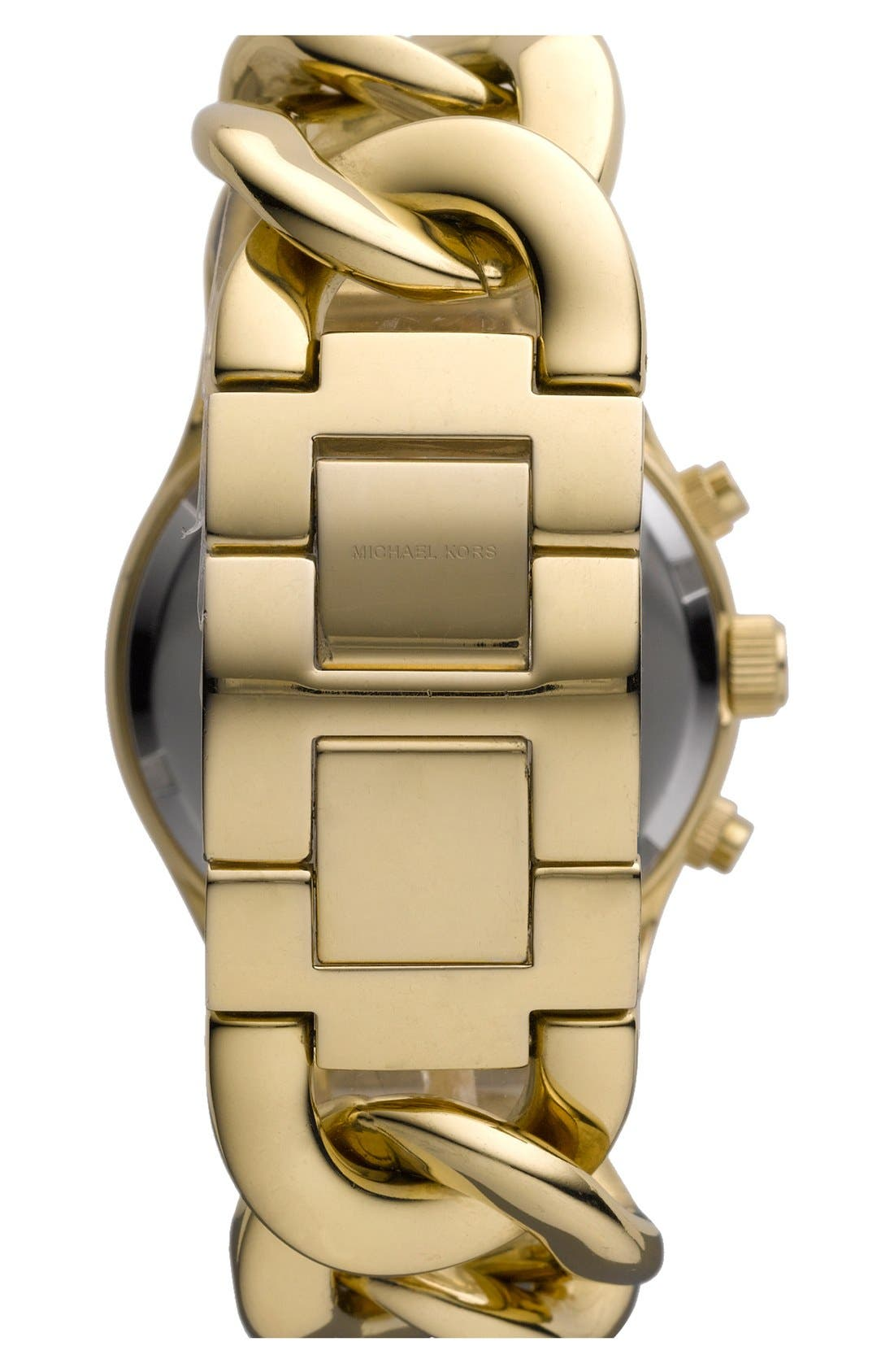 Alternate Image 2  - Michael Kors Chain Bracelet Chronograph Watch, 38mm