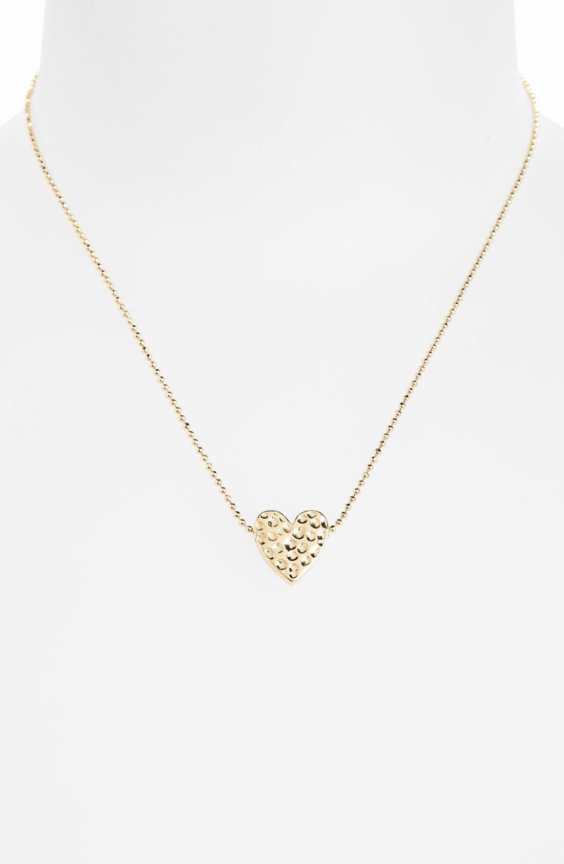 Alternate Image 1 Selected - Topshop 'Beaten Heart' Necklace