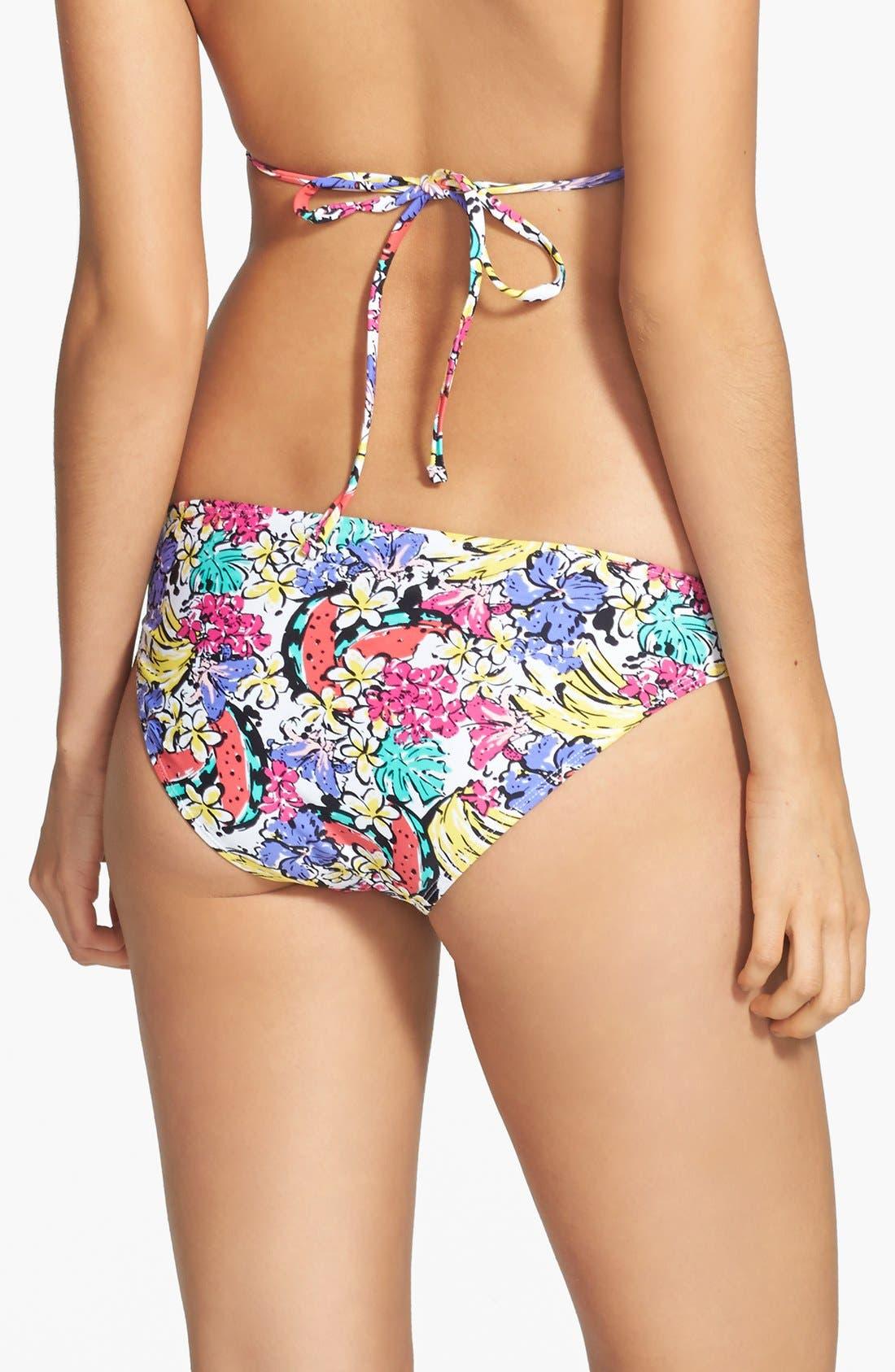 Alternate Image 2  - BP. Undercover Print Basic Bikini Bottoms (Juniors)