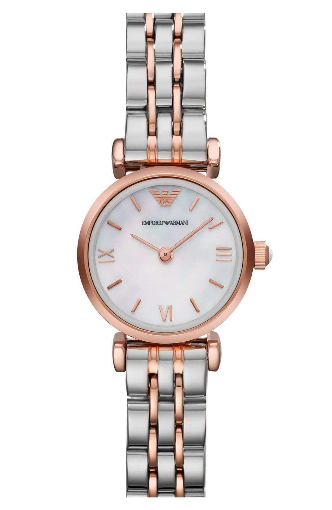 Alternate Image 1 Selected - Emporio Armani Round Bracelet Watch, 22mm