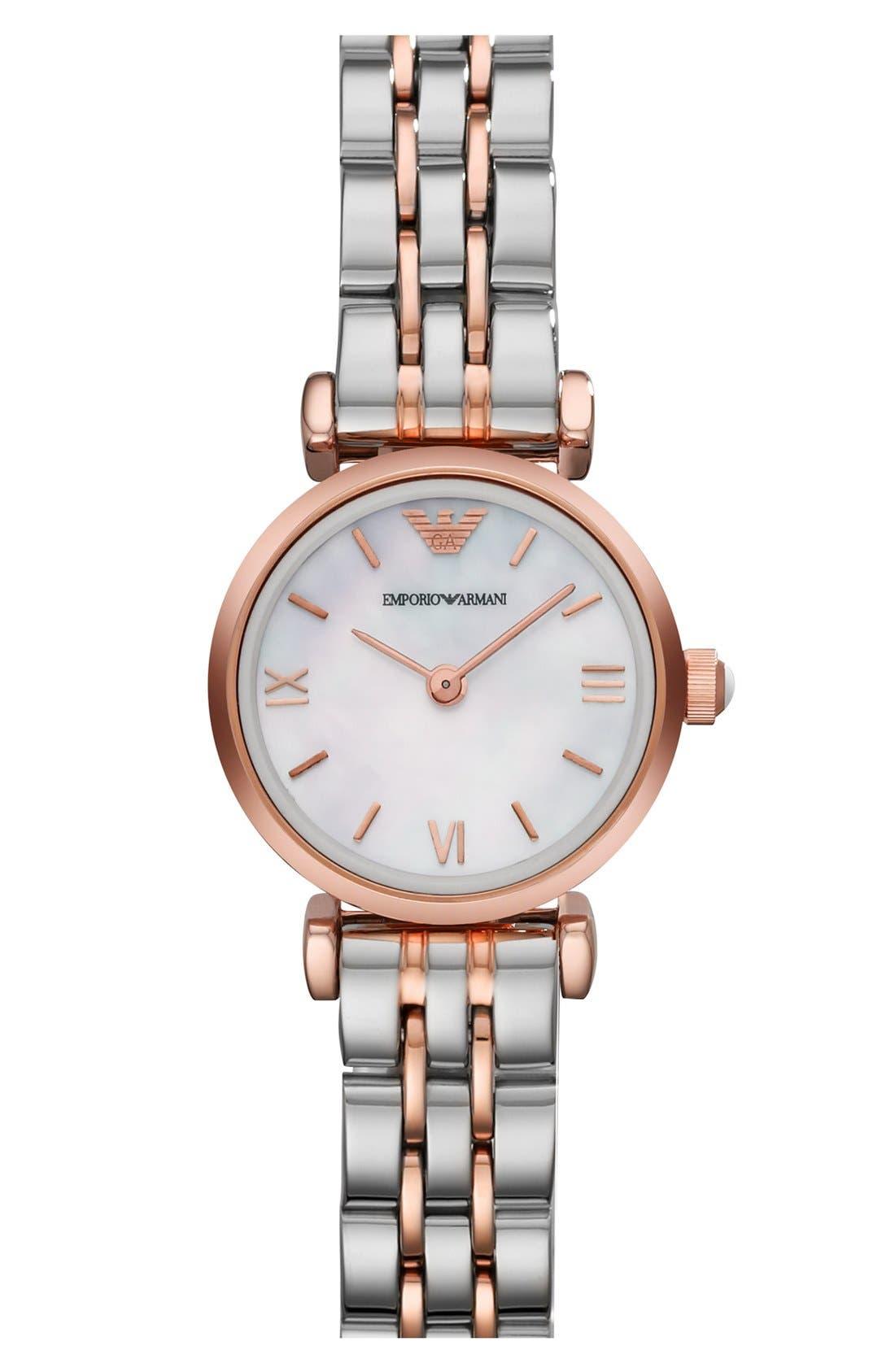 Main Image - Emporio Armani Round Bracelet Watch, 22mm