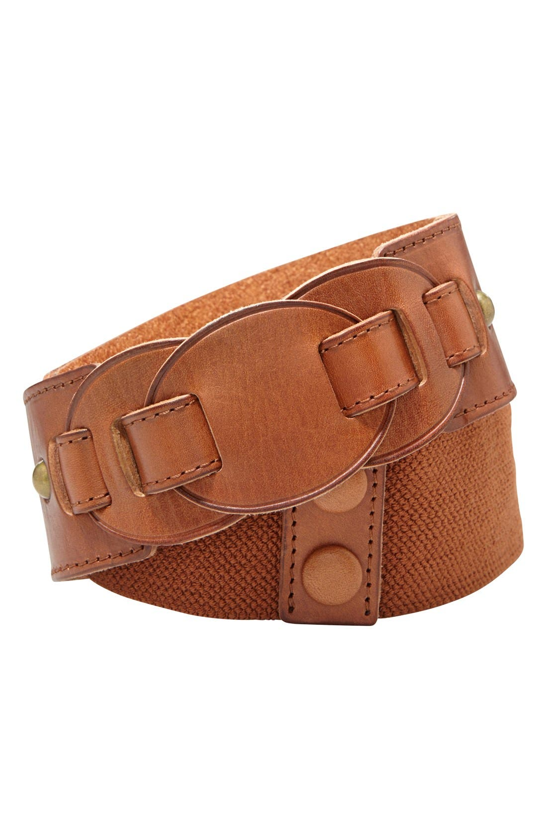 Alternate Image 1 Selected - Fossil Stretch Leather Belt