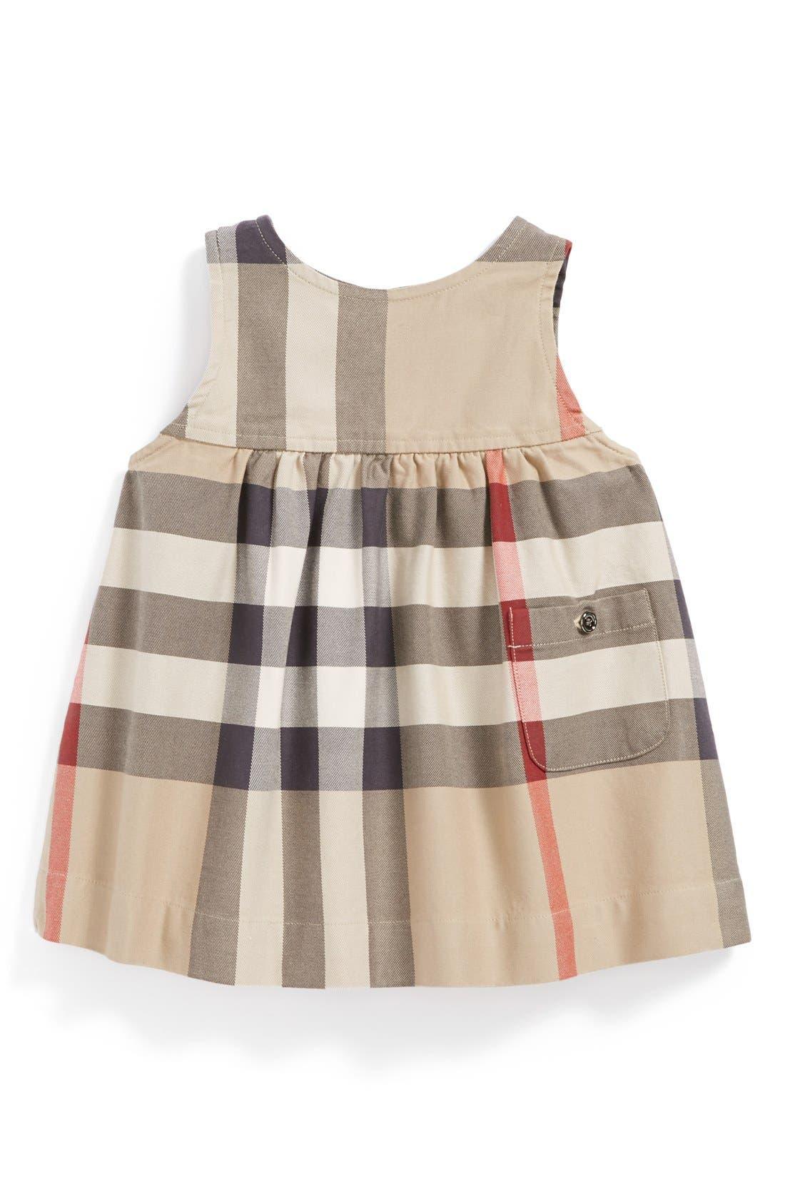 Burberry Sleeveless Check Dress Baby Girls