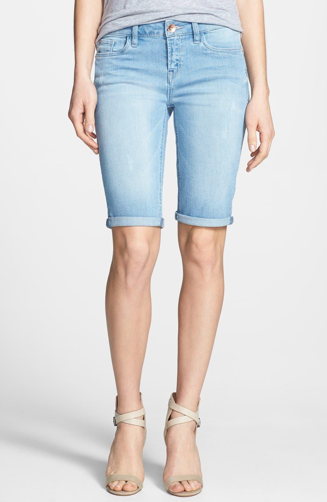 Alternate Image 1 Selected - kensie Denim Bermuda Shorts