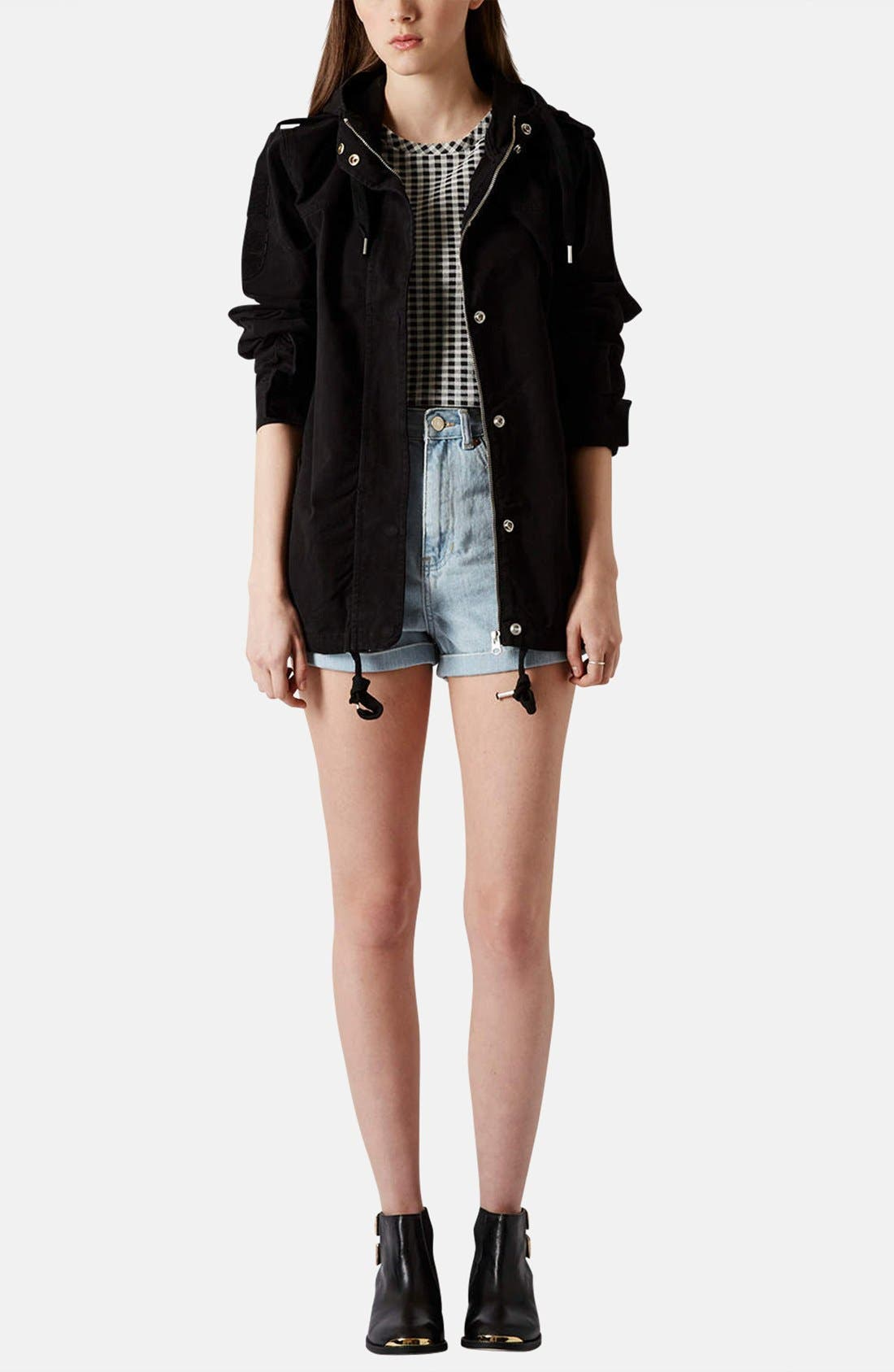 Alternate Image 5  - Topshop 'Ryan' Lightweight Cotton Parka