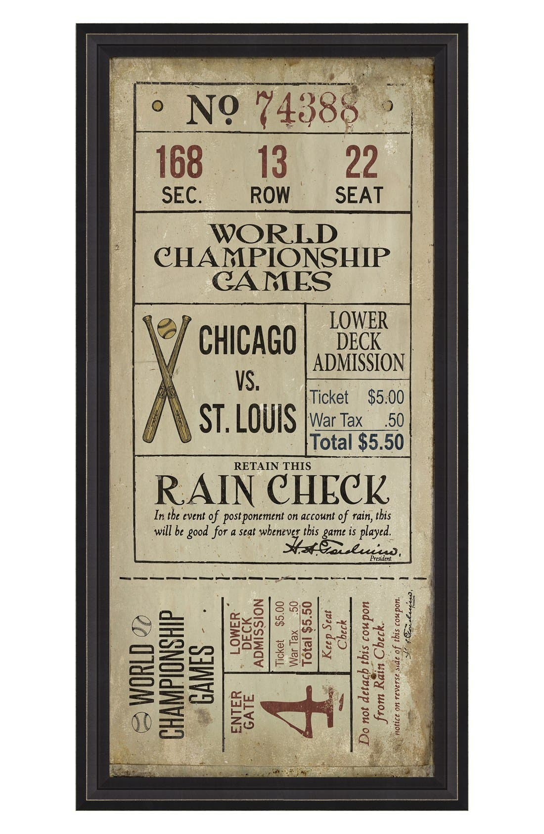 Spicher and Company 'Chicago vs. St. Louis' Vintage Look Sign Artwork