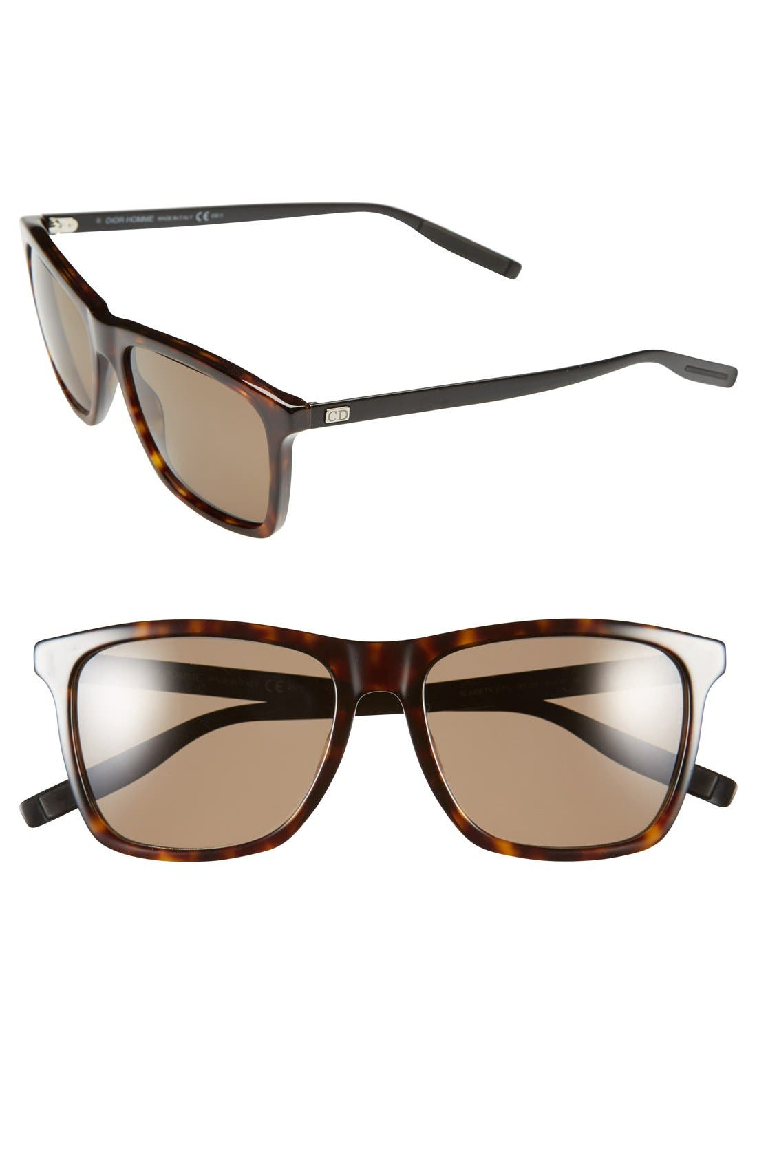 Main Image - Dior Homme '177S' 55mm Polarized Sunglasses