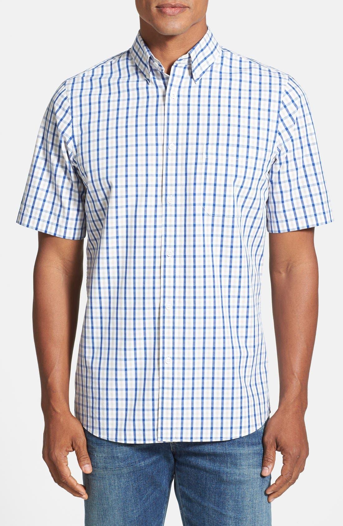 Alternate Image 1 Selected - Nordstrom Regular Fit Short Sleeve Woven Sport Shirt