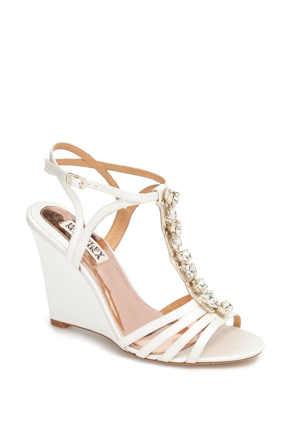 Main Image - Badgley Mischka 'Kole' T-Strap Wedge Sandal
