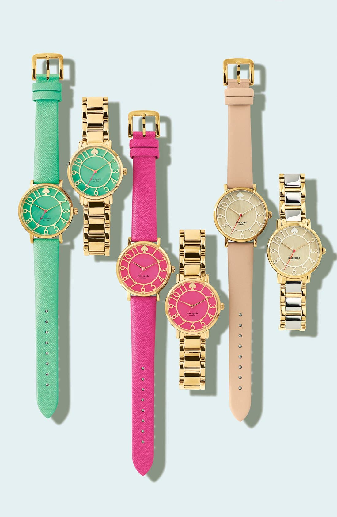 Alternate Image 6  - kate spade new york 'metro' round leather strap watch, 34mm