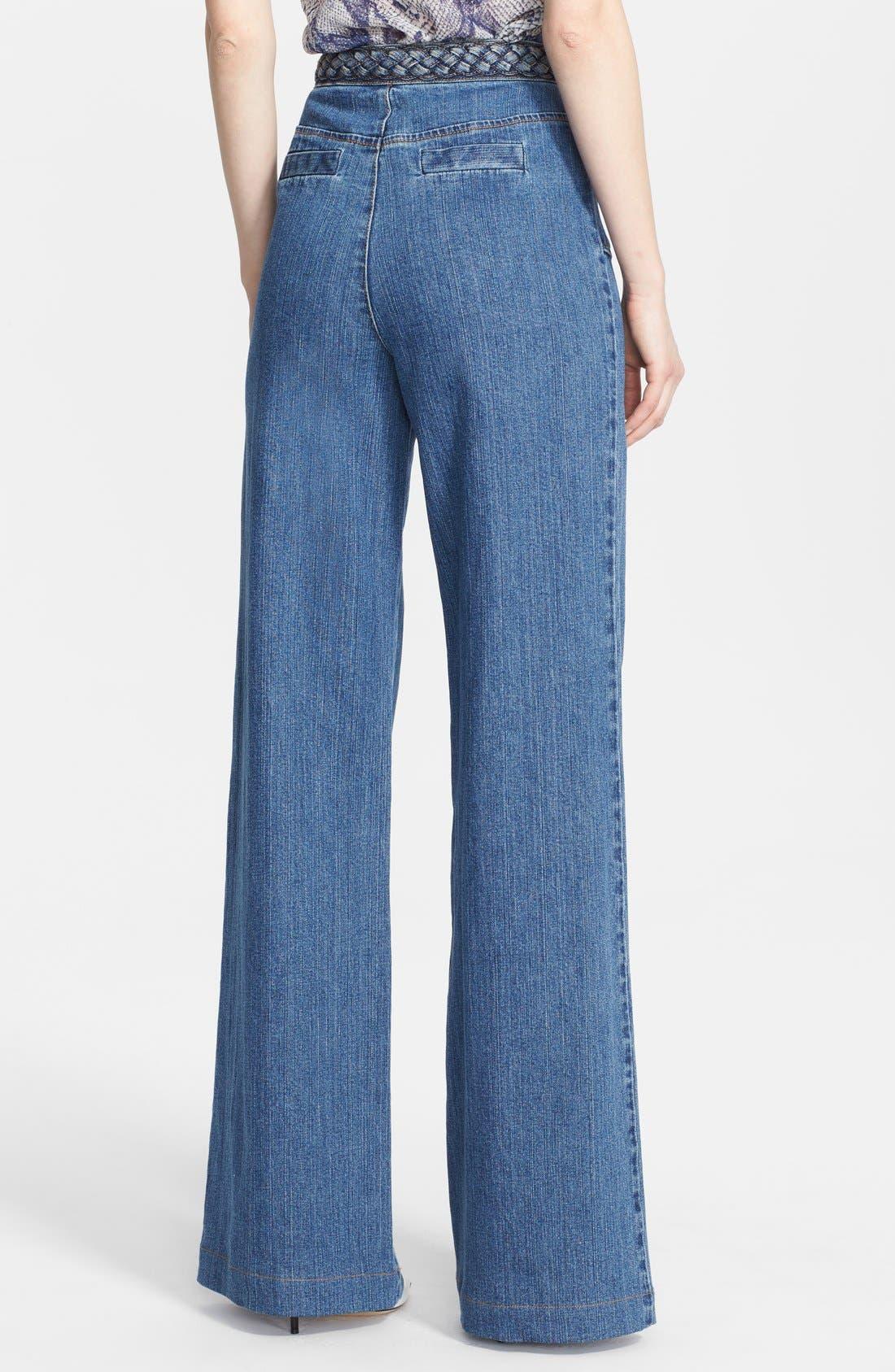 Alternate Image 2  - Rachel Zoe 'Ella' Braided Waist Wide Leg Jeans
