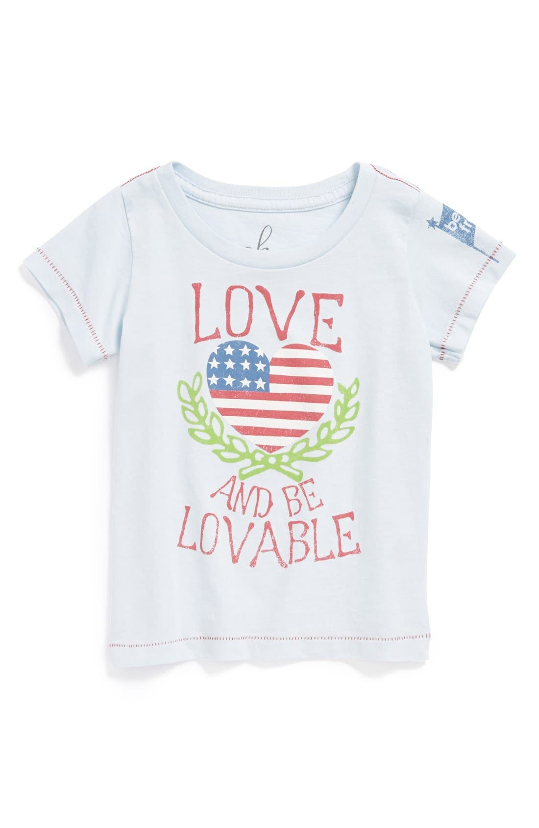Alternate Image 1 Selected - Peek 'Love & Be Loveable' Tee (Baby Girls)
