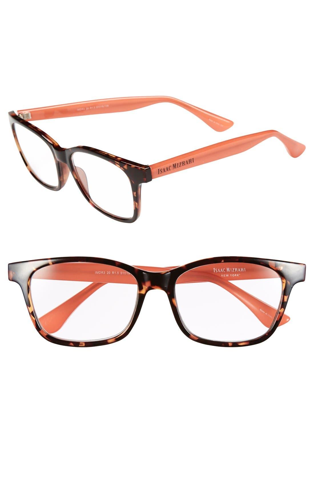 Alternate Image 1 Selected - Isaac Mizrahi New York 51mm Square Reading Glasses