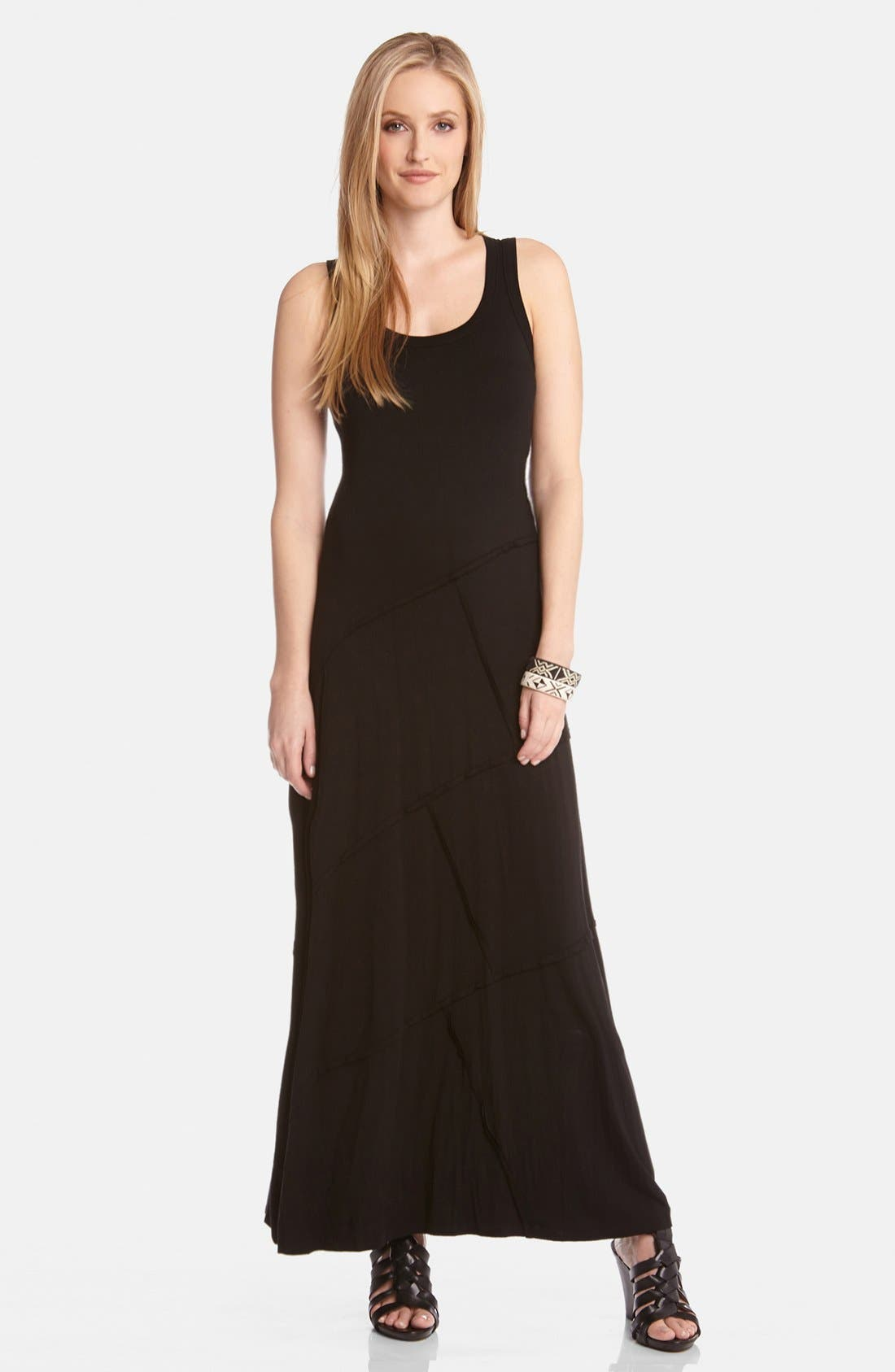 Main Image - Karen Kane 'Carolyn' Reverse Seam Maxi Dress