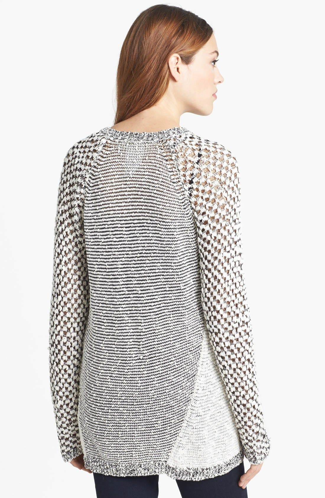 Alternate Image 2  - Two by Vince Camuto Mixed Stitch Crewneck Sweater (Petite)