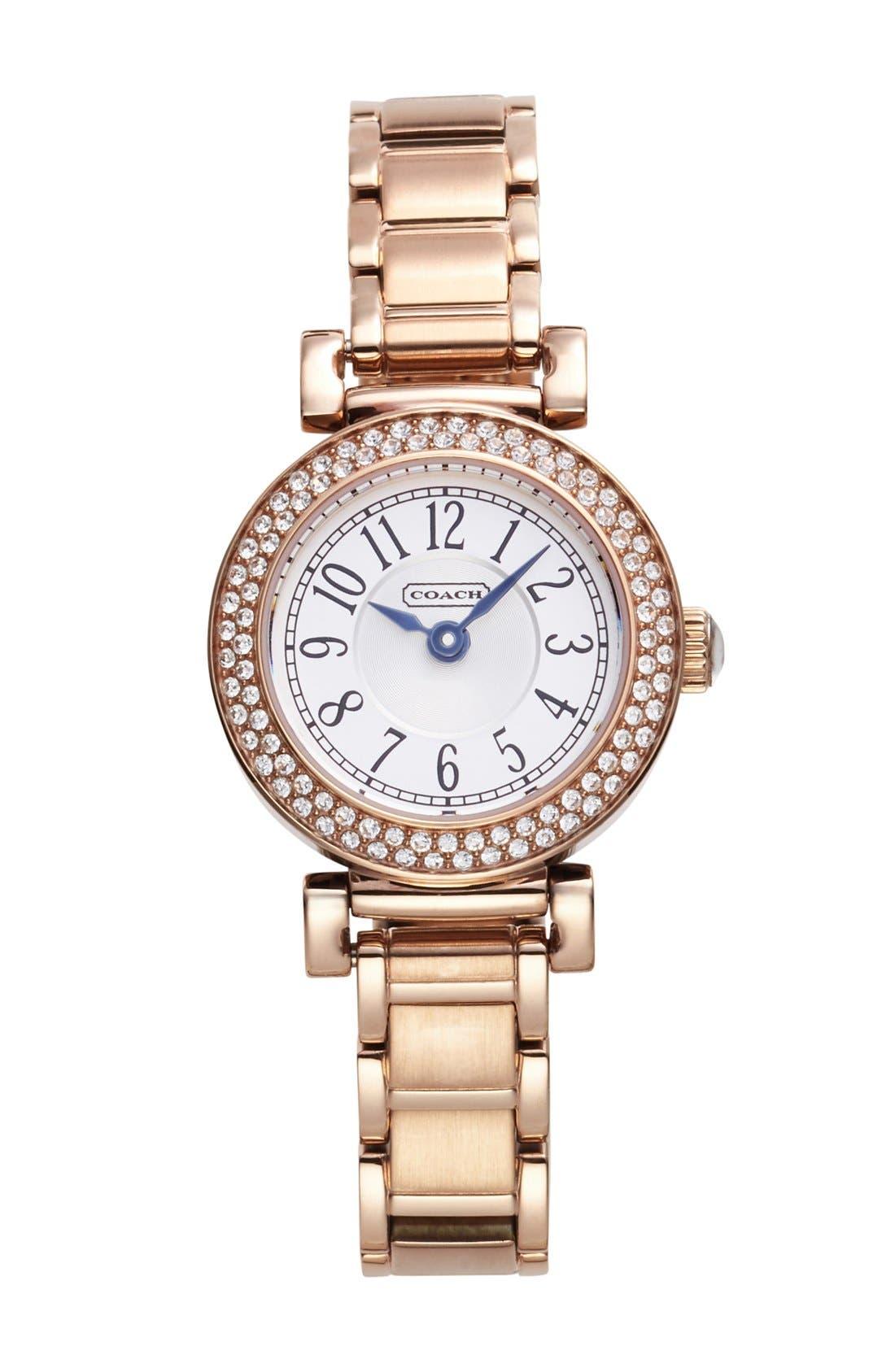 Main Image - COACH 'Madison' Crystal Bezel Bracelet Watch, 24mm