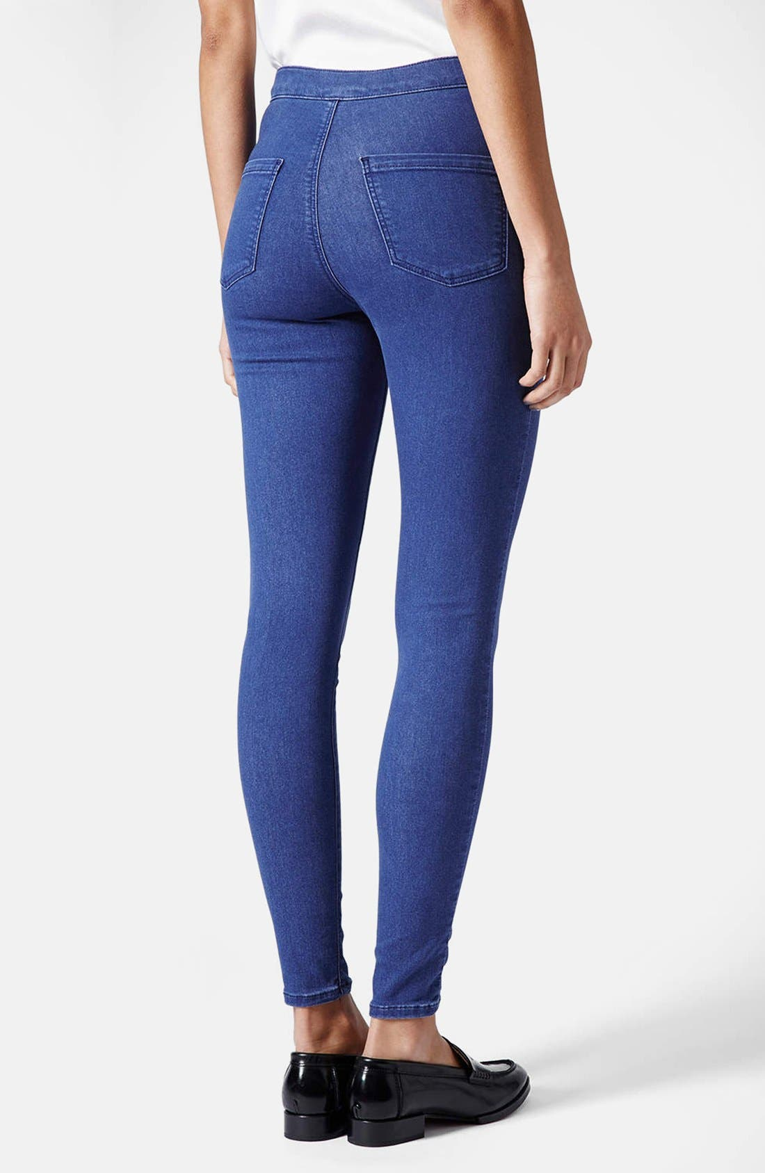 Alternate Image 2  - Topshop Moto 'Joni' High Rise Skinny Jeans (Regular, Short & Long) (Blue)