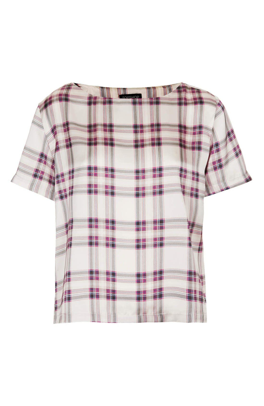 Alternate Image 3  - Topshop 'Summer Check' Print Tee