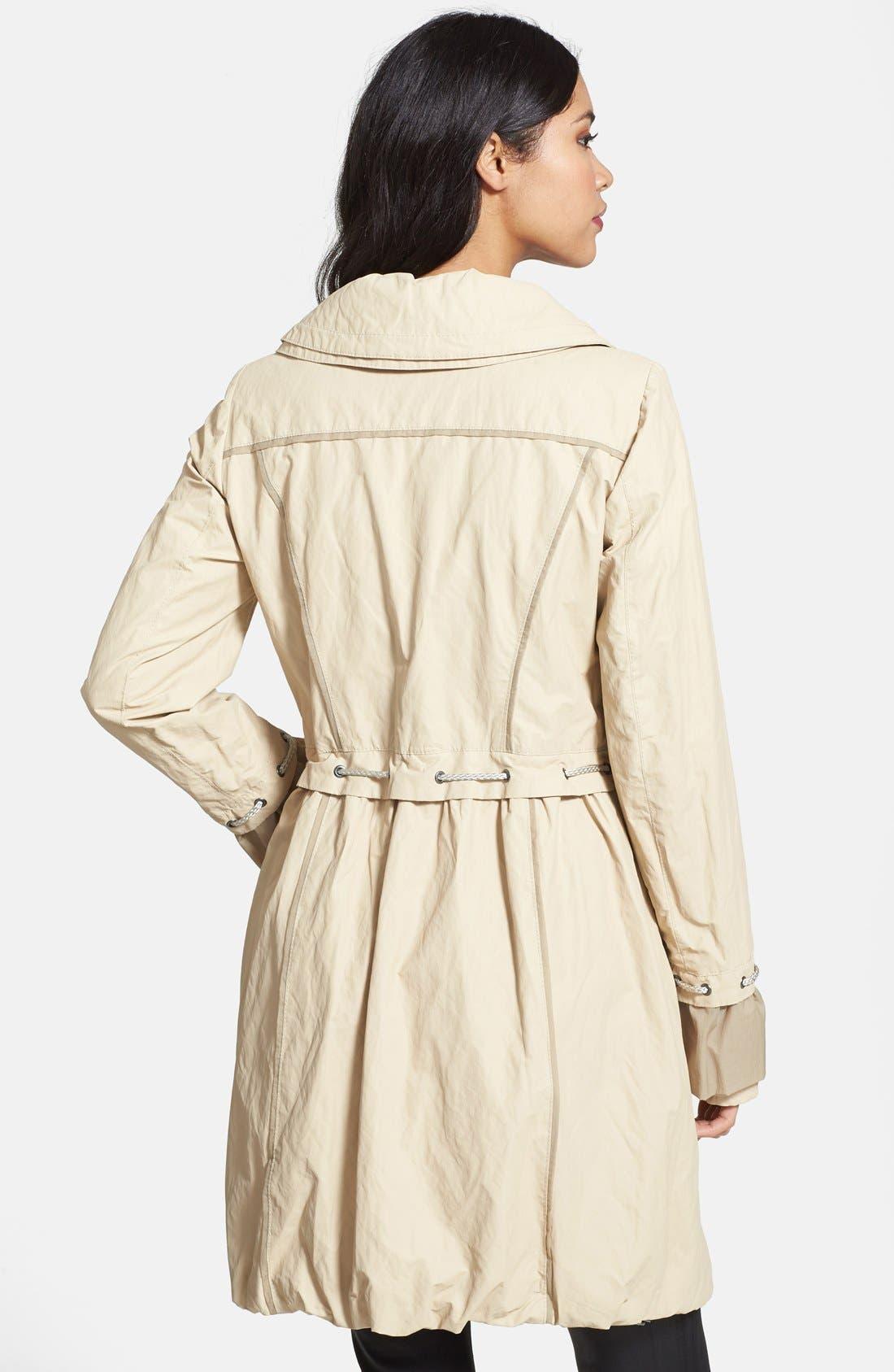Alternate Image 2  - Creenstone® Ruffle Detail Drawstring Jacket