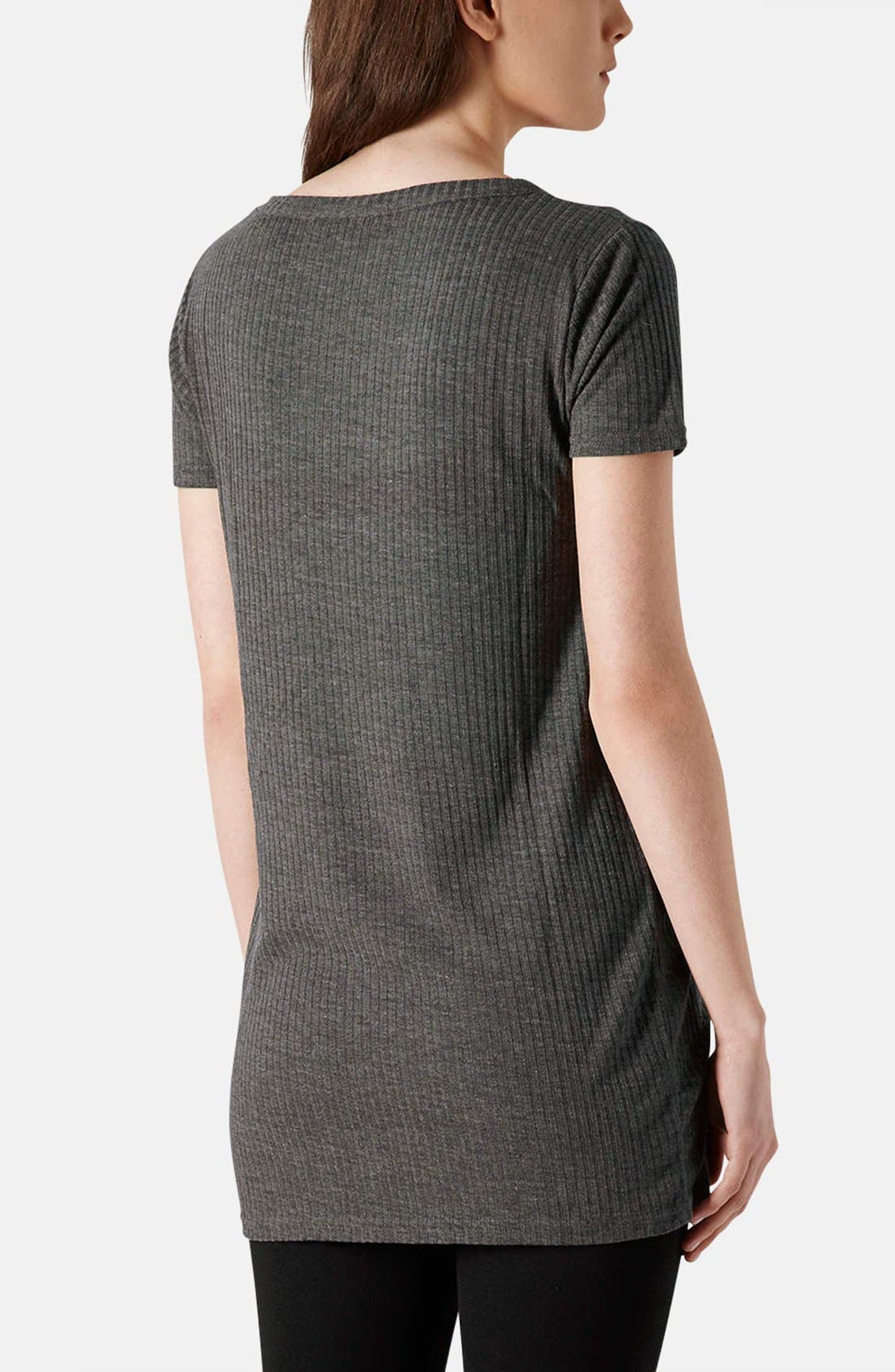Alternate Image 2  - Topshop Ribbed Jersey Tunic Tee