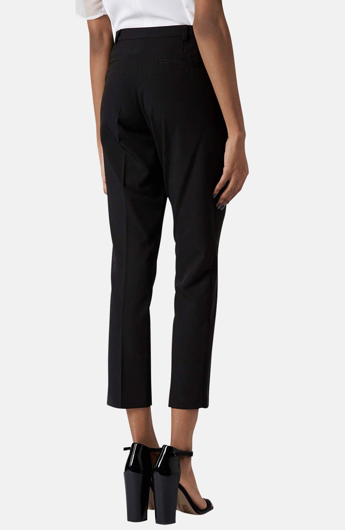 Alternate Image 2  - Topshop Crop Cigarette Pants (Regular & Short)