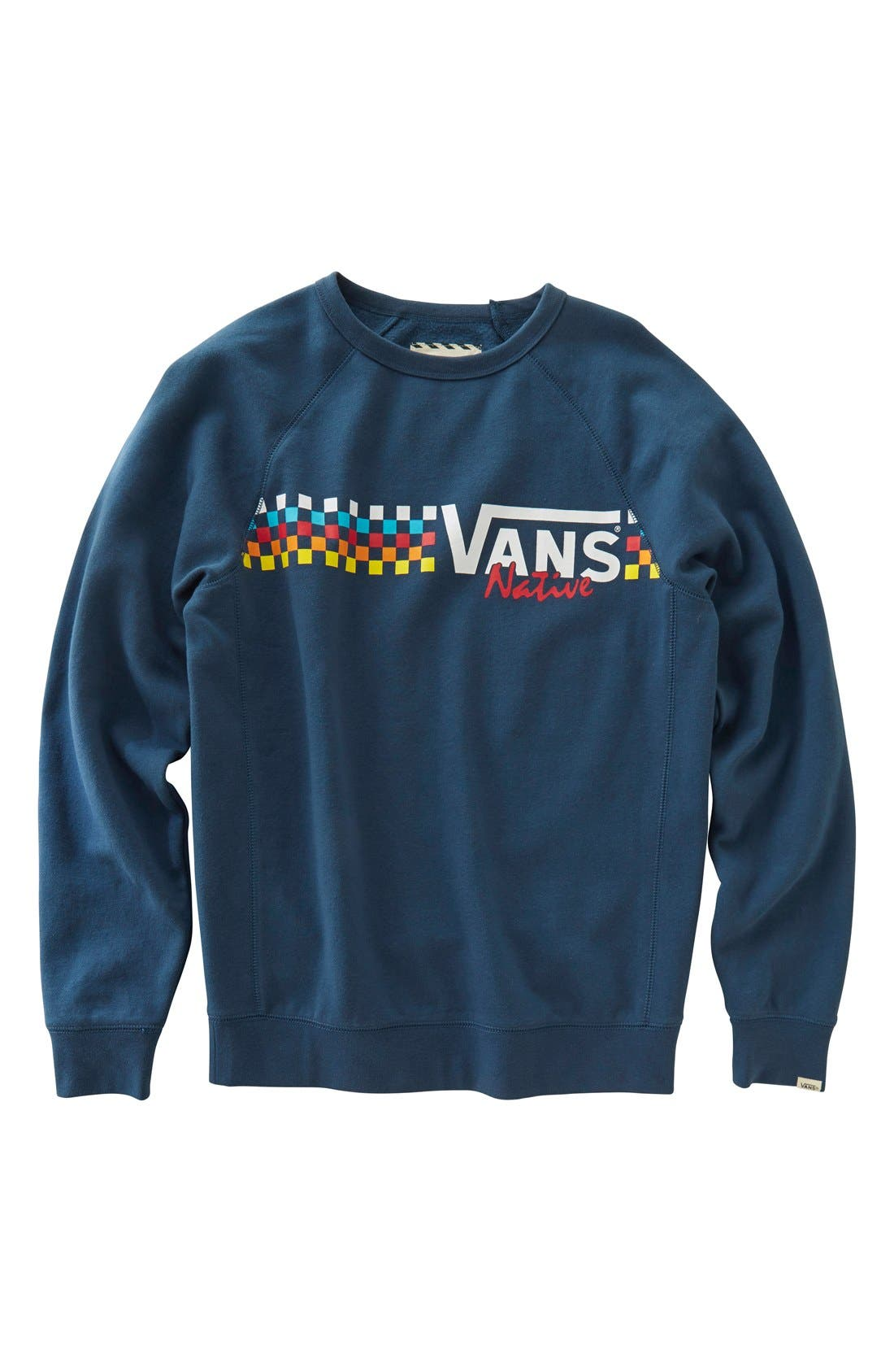 Alternate Image 1 Selected - Vans 'New Native' Screenprint Sweatshirt (Big Boys)