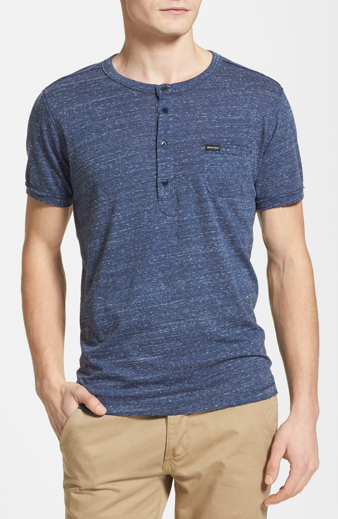 Alternate Image 1 Selected - DIESEL® Slub Henley T-Shirt