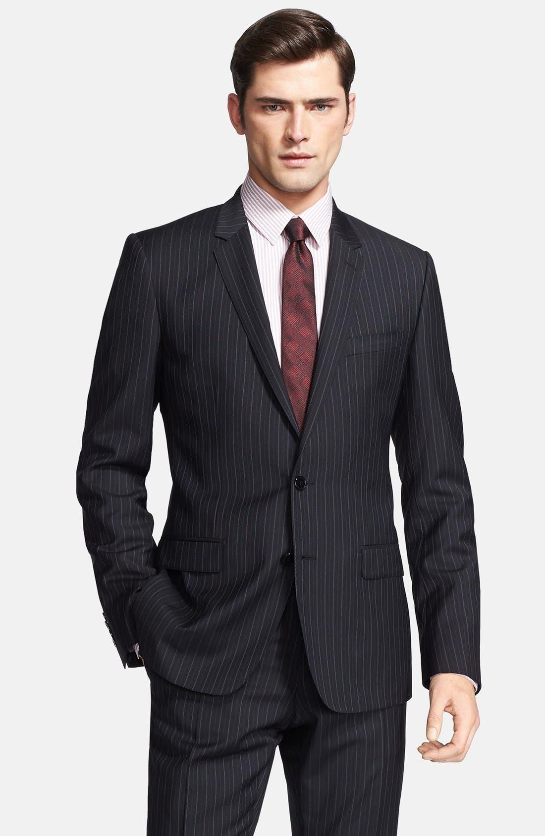 Alternate Image 3  - Dolce&Gabbana 'Martini' Black Stripe Wool Suit