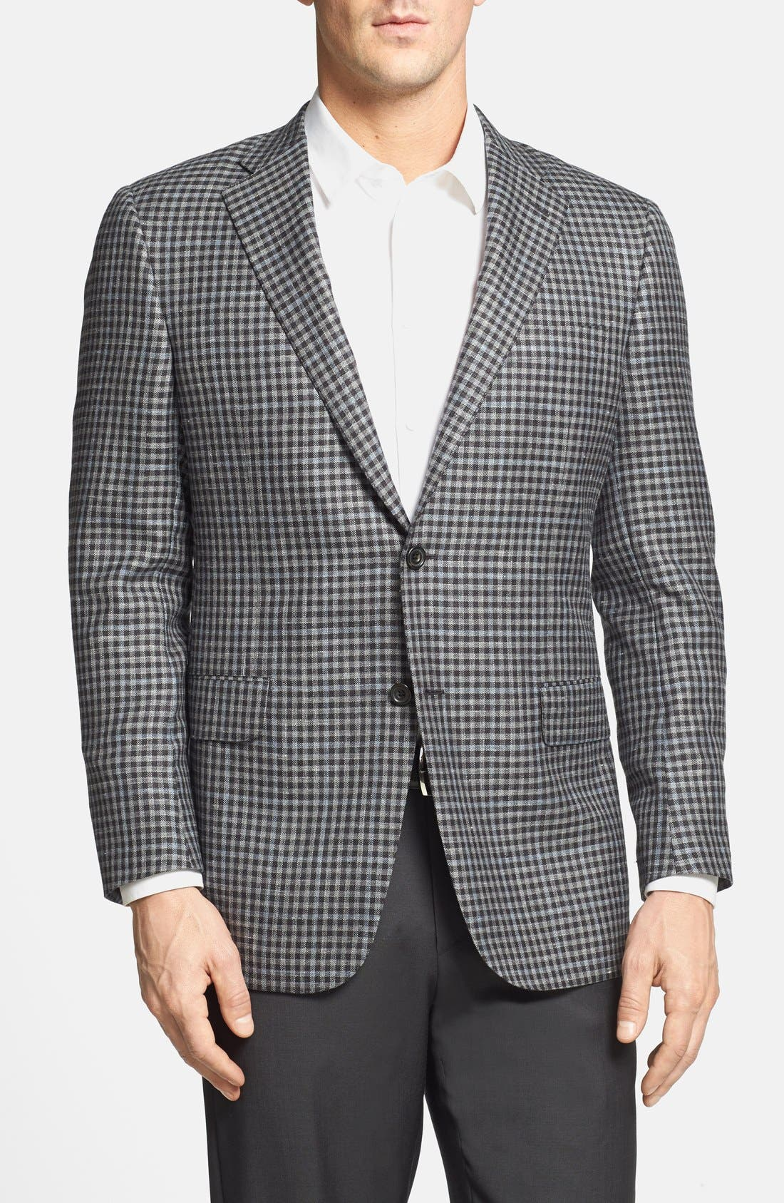 Main Image - Hickey Freeman 'Beacon' Classic Fit Wool Blend Sportcoat