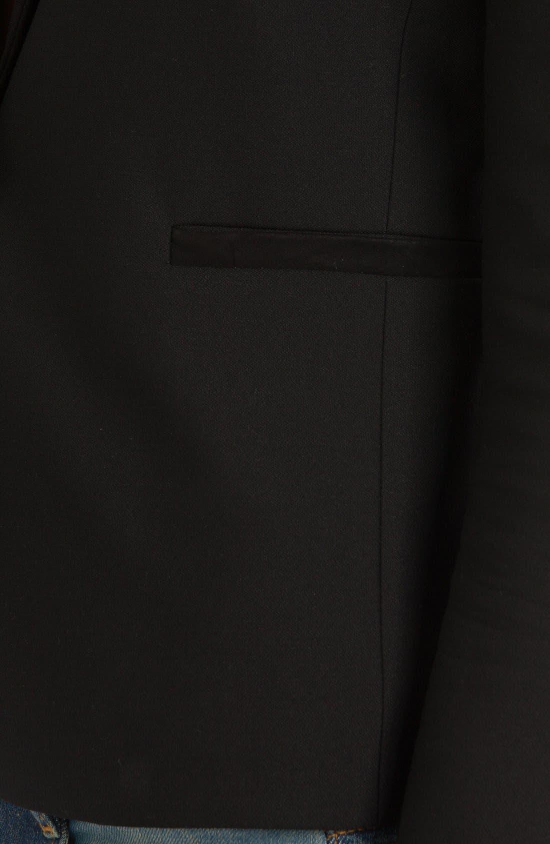 Alternate Image 3  - maje 'Veste Cintree' Leather Accent Blazer
