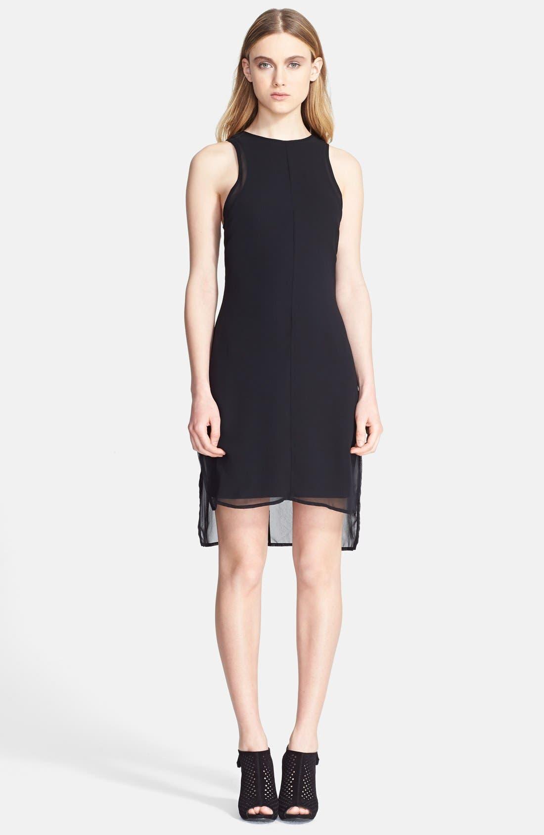Main Image - rag & bone 'Bailey' Chiffon High/Low Dress