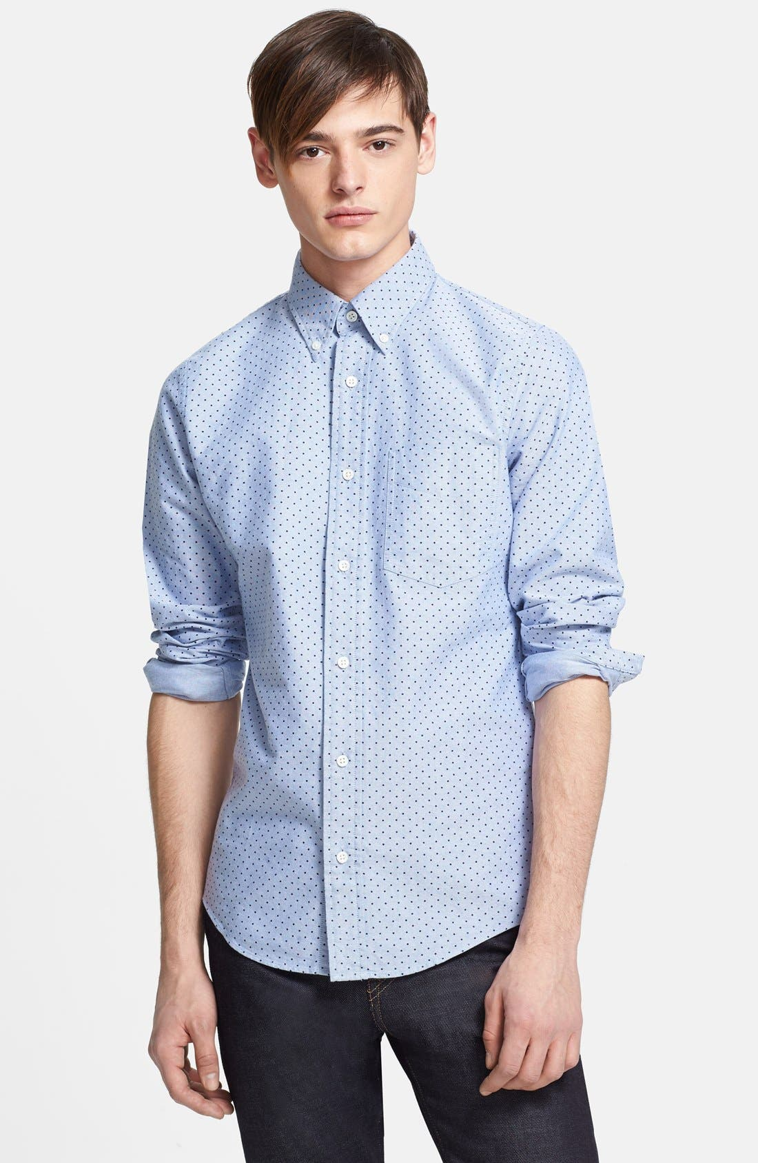 Alternate Image 1 Selected - Jack Spade 'Taylor' Dot Woven Oxford Sport Shirt