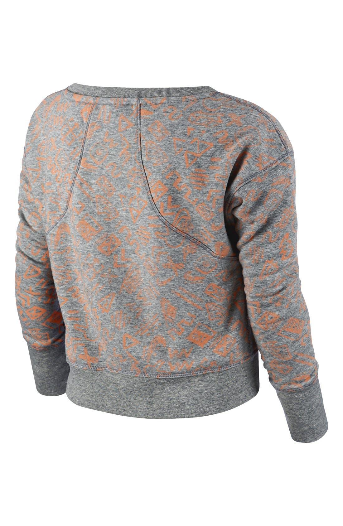 Alternate Image 2  - Nike 'Run Heritage' Crop Sweatshirt (Big Girls)