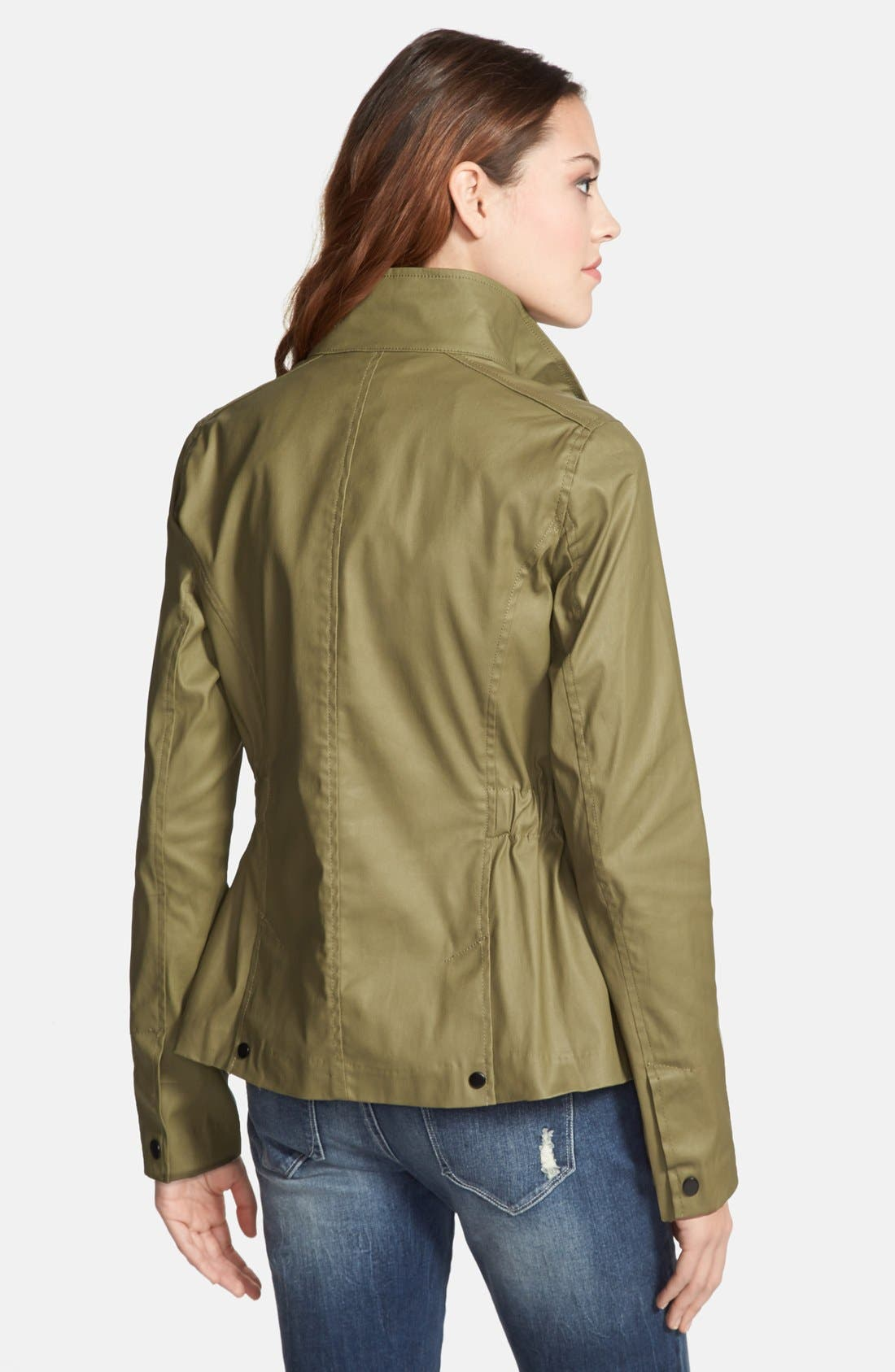 Alternate Image 2  - kensie Washed Cotton Anorak Jacket
