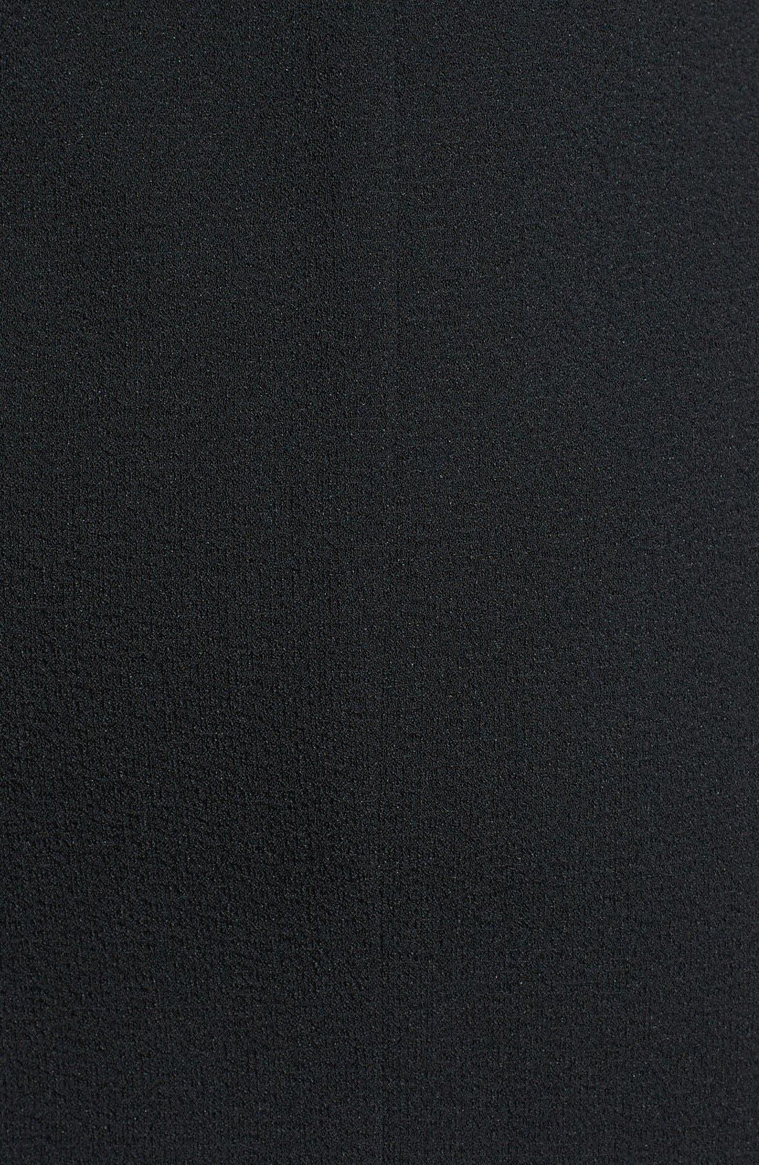 Alternate Image 4  - Black Halo 'Carabelle' Flounced Stretch Crepe Sheath Dress