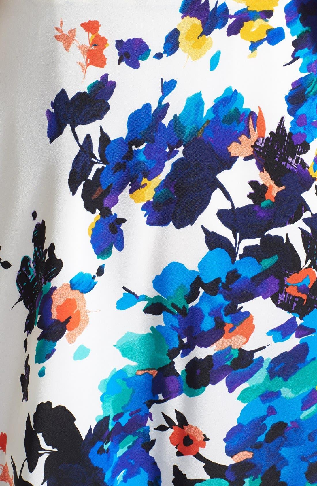 Alternate Image 3  - Betsey Johnson Floral Print Fit & Flare Dress