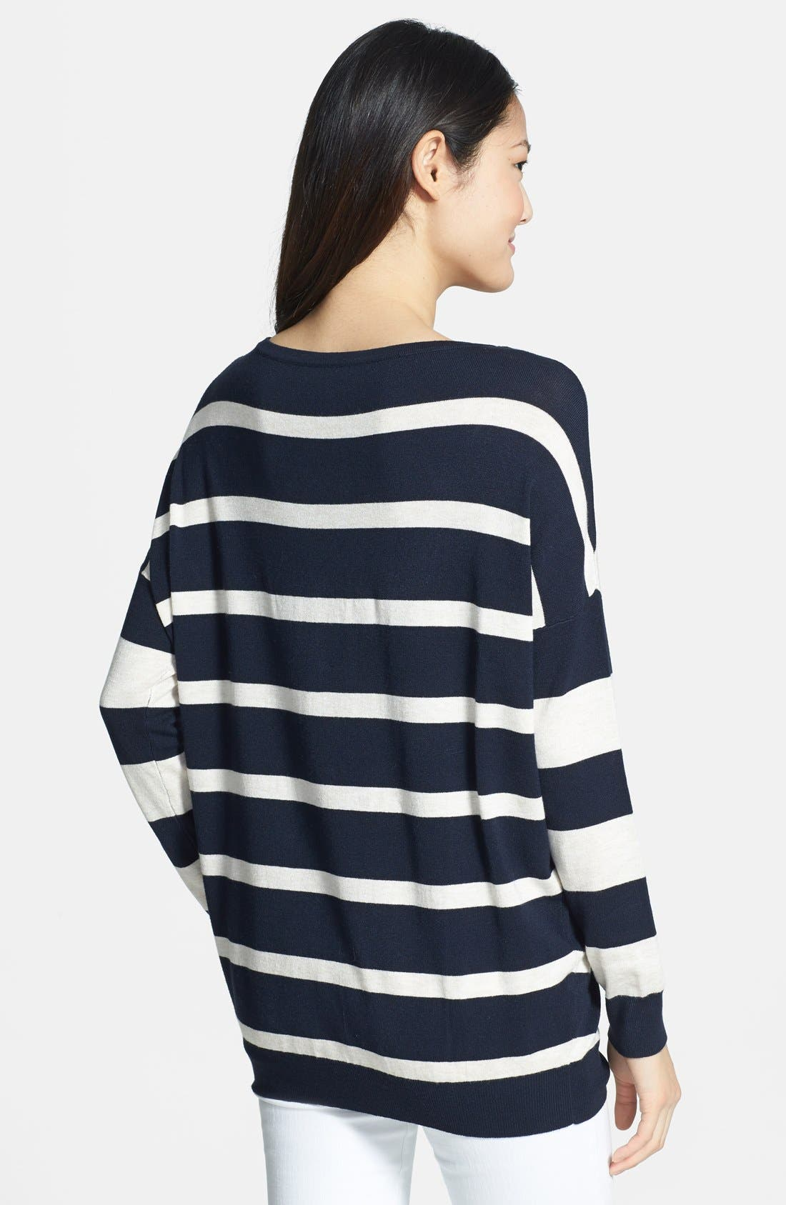 Alternate Image 2  - Wallis Stripe Block Sweater
